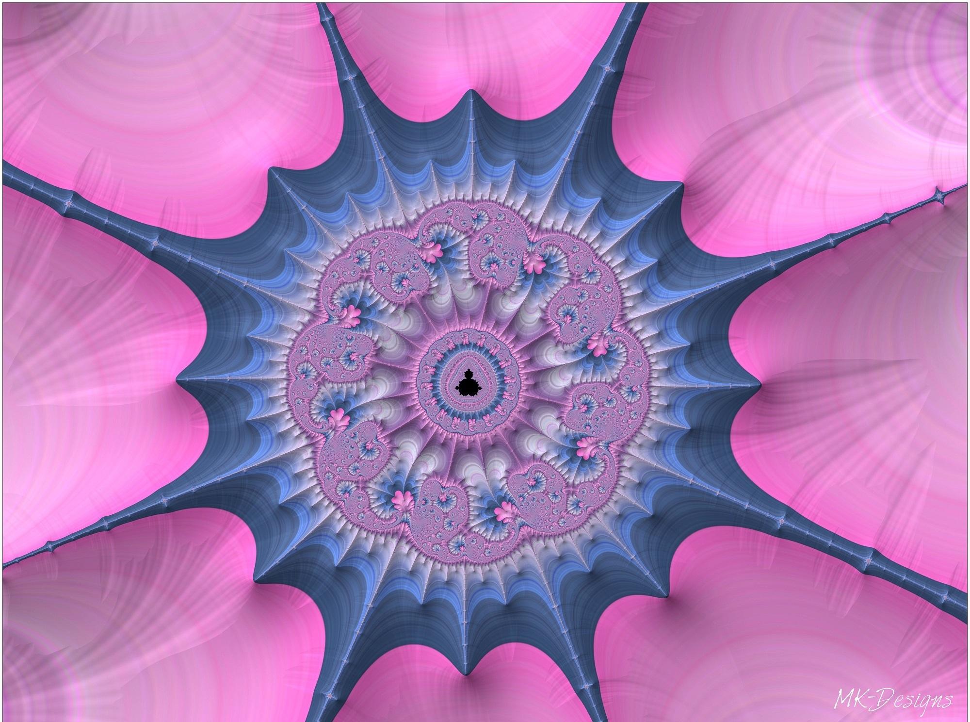 Artistic Digital Art Pink Pattern 2000x1488