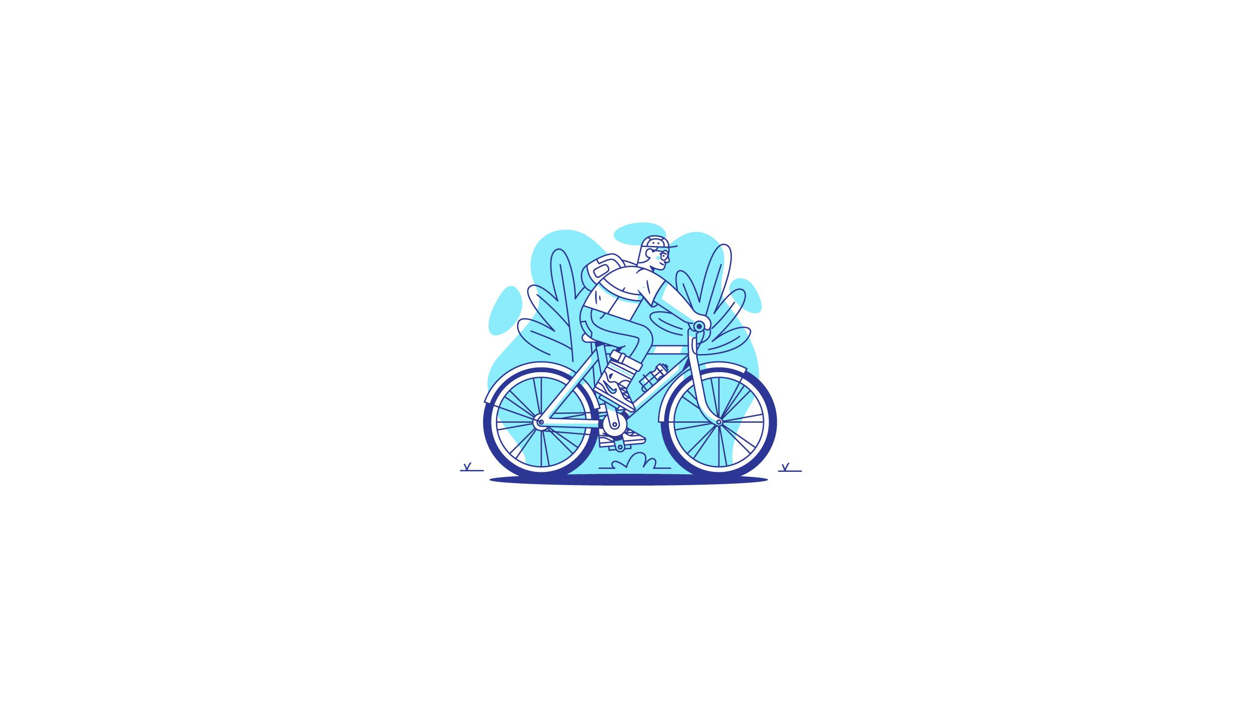Graphic Design Illustration Bicycle 2560x1440