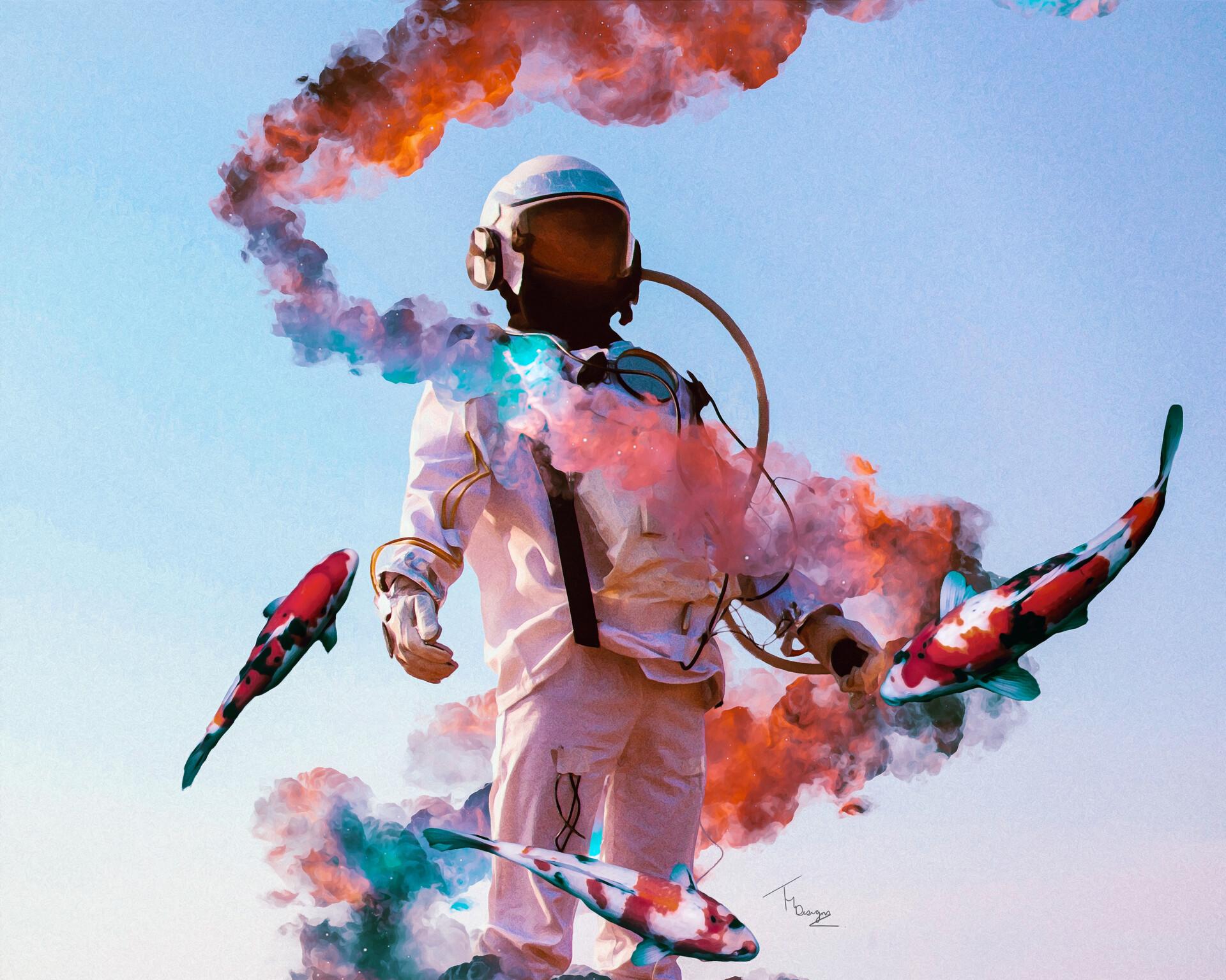 Space Suit Fish Smoke 1920x1535