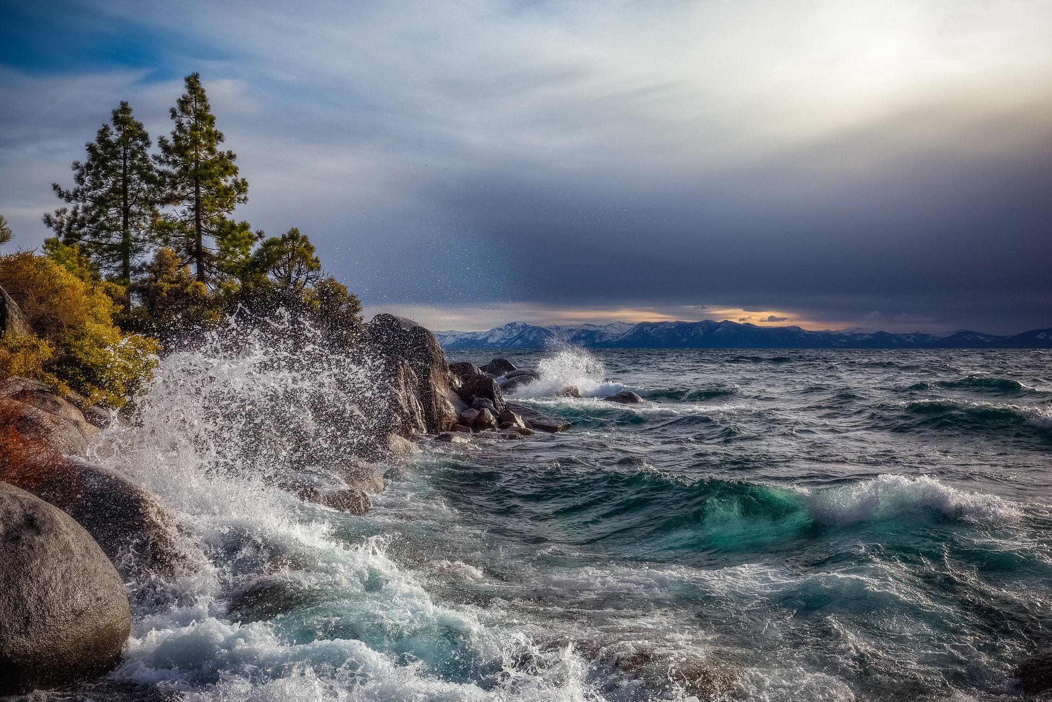 Lake Outdoors USA Nevada Lake Tahoe 2047x1365