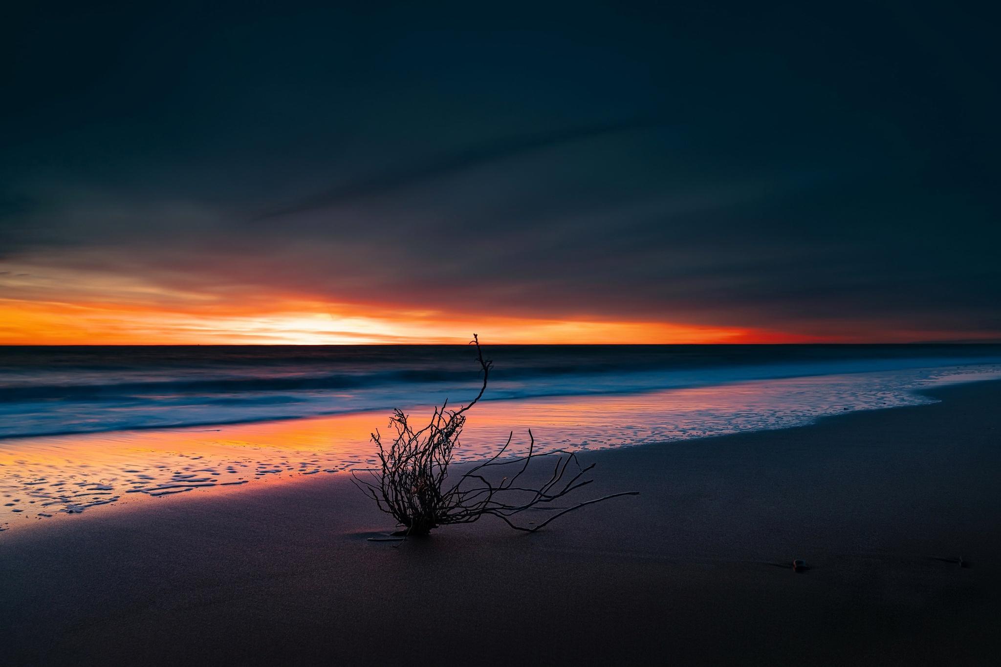 Nature Sunset Horizon Beach 2048x1366