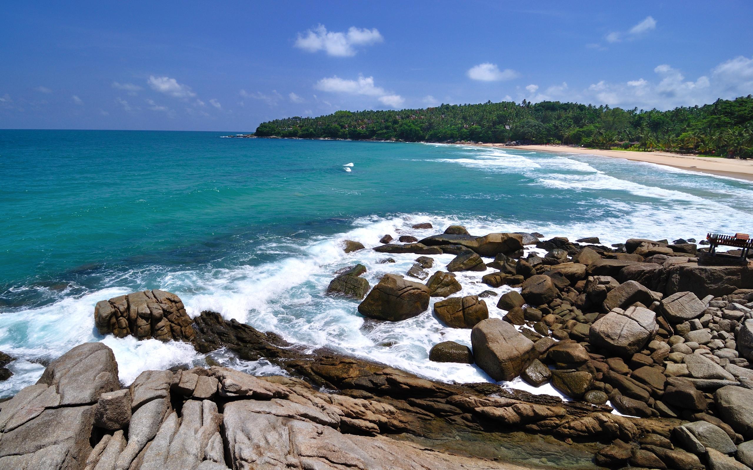 Coastline Ocean Rock 2560x1600