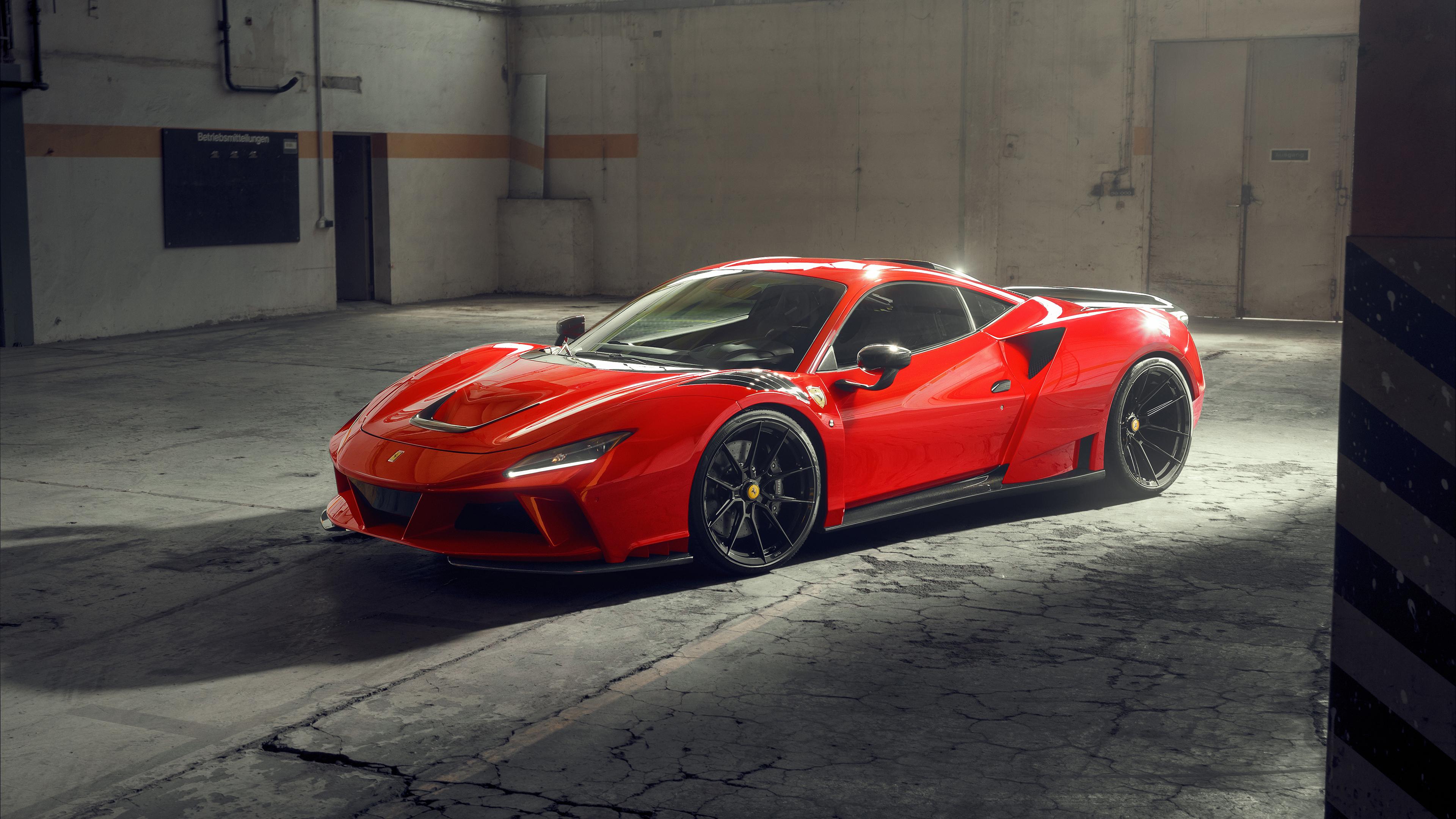 Ferrari F8 Tributo Ferrari Car Supercars Italian Supercars Vehicle Novitec Red Cars Warehouse Natura 3840x2160