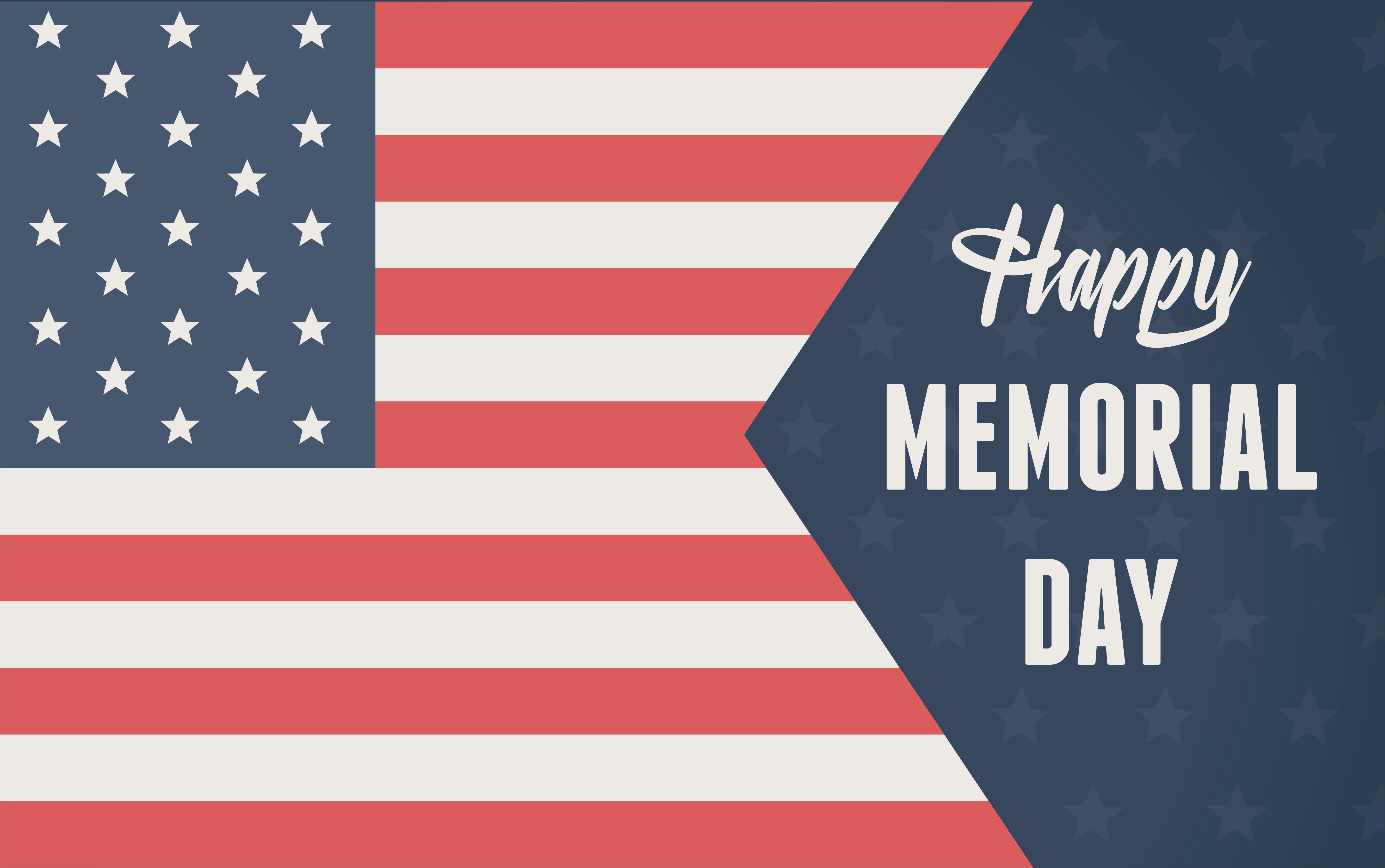 Happy Memorial Day American Flag 5316x3334