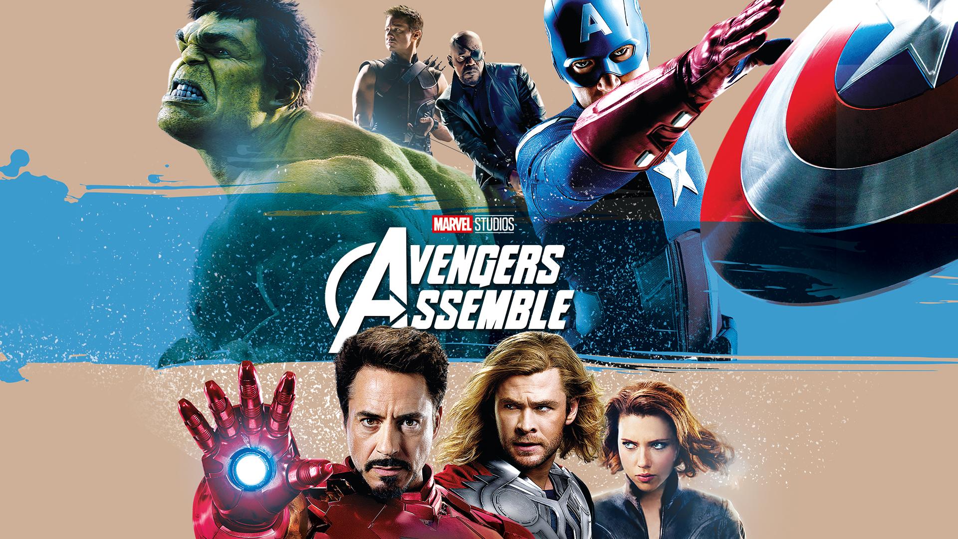 Avengers Iron Man Captain America Thor Black Widow Hawkeye Hulk Nick Fury 1920x1080