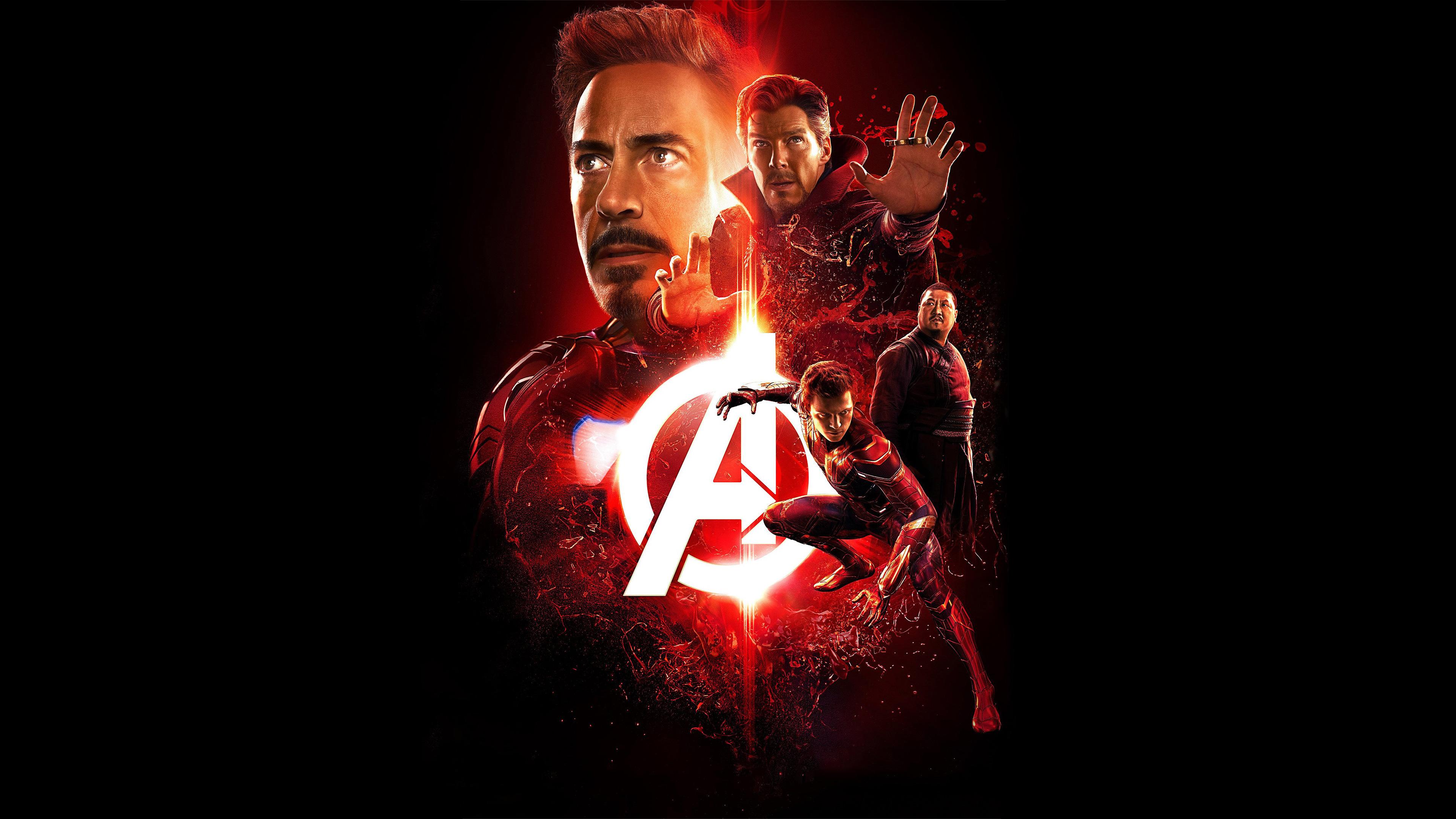 Iron Man Robert Downey Jr Tom Holland Spider Man Doctor Strange Benedict Cumberbatch Benedict Wong W 3840x2160