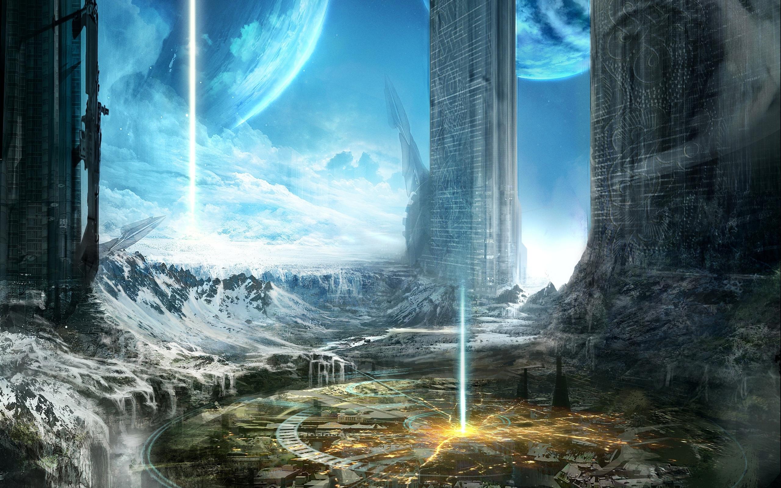Sci Fi City 2560x1600