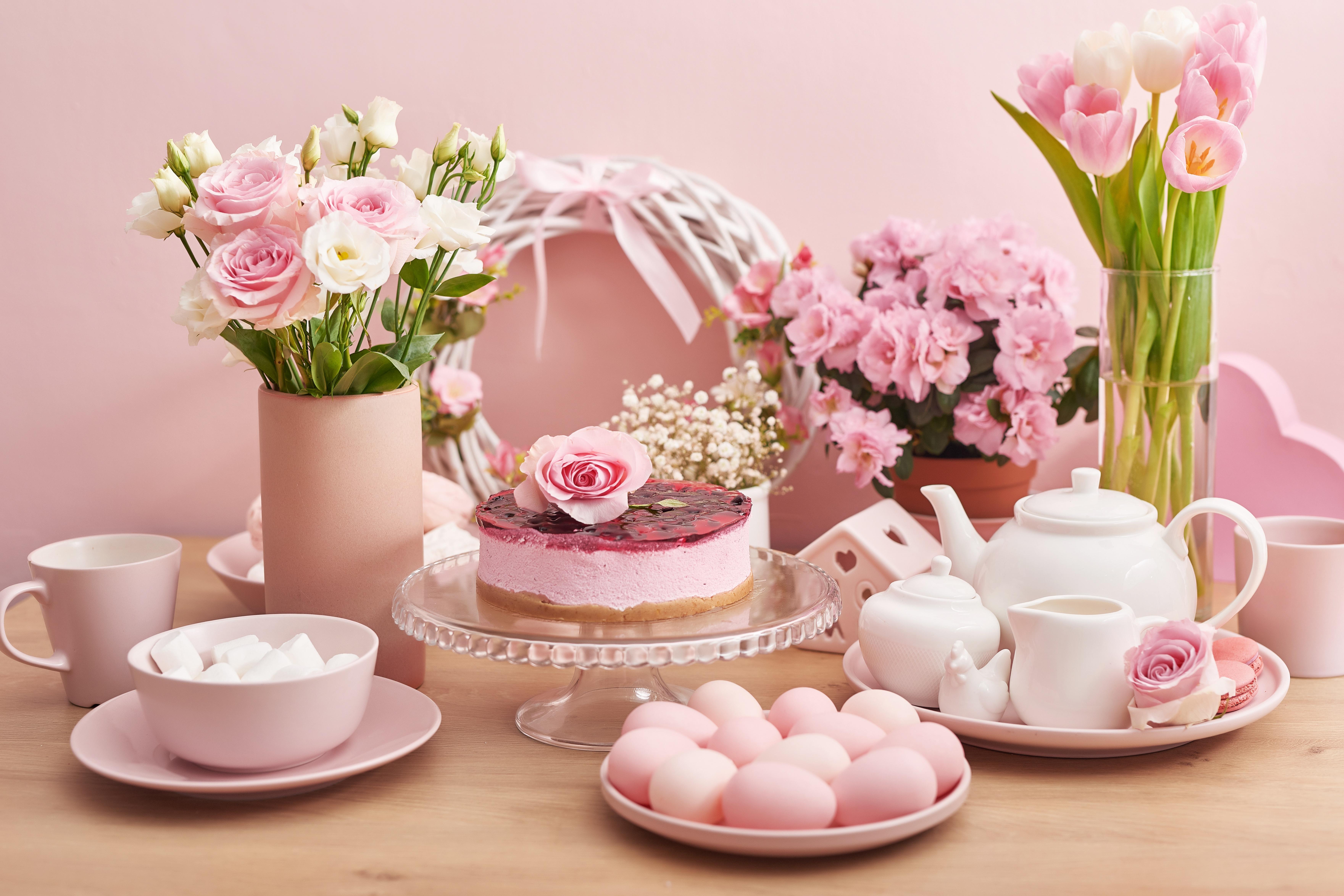 Flower Egg Cake 7043x4695