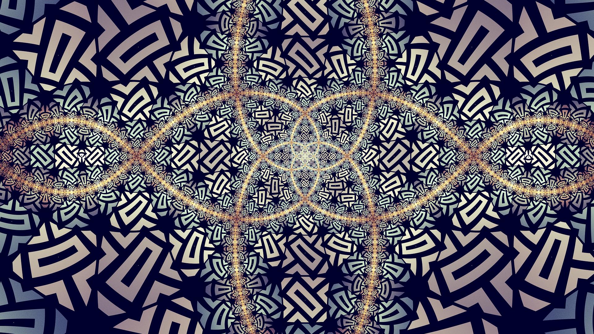 Artistic Symmetry Digital Art 1920x1080