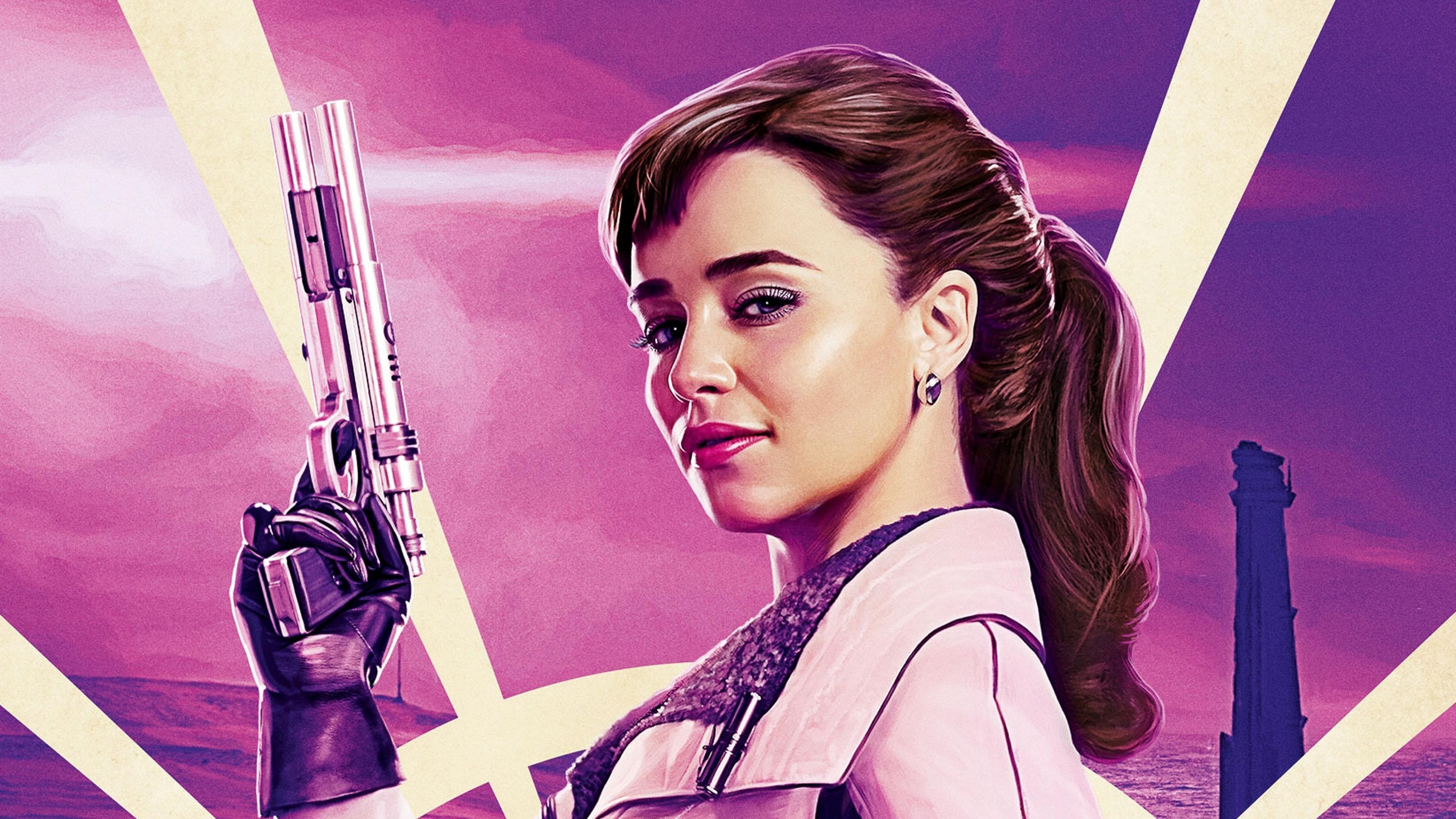 Emilia Clarke Qi 039 Ra Star Wars Solo A Star Wars Story Star Wars 3288x1849