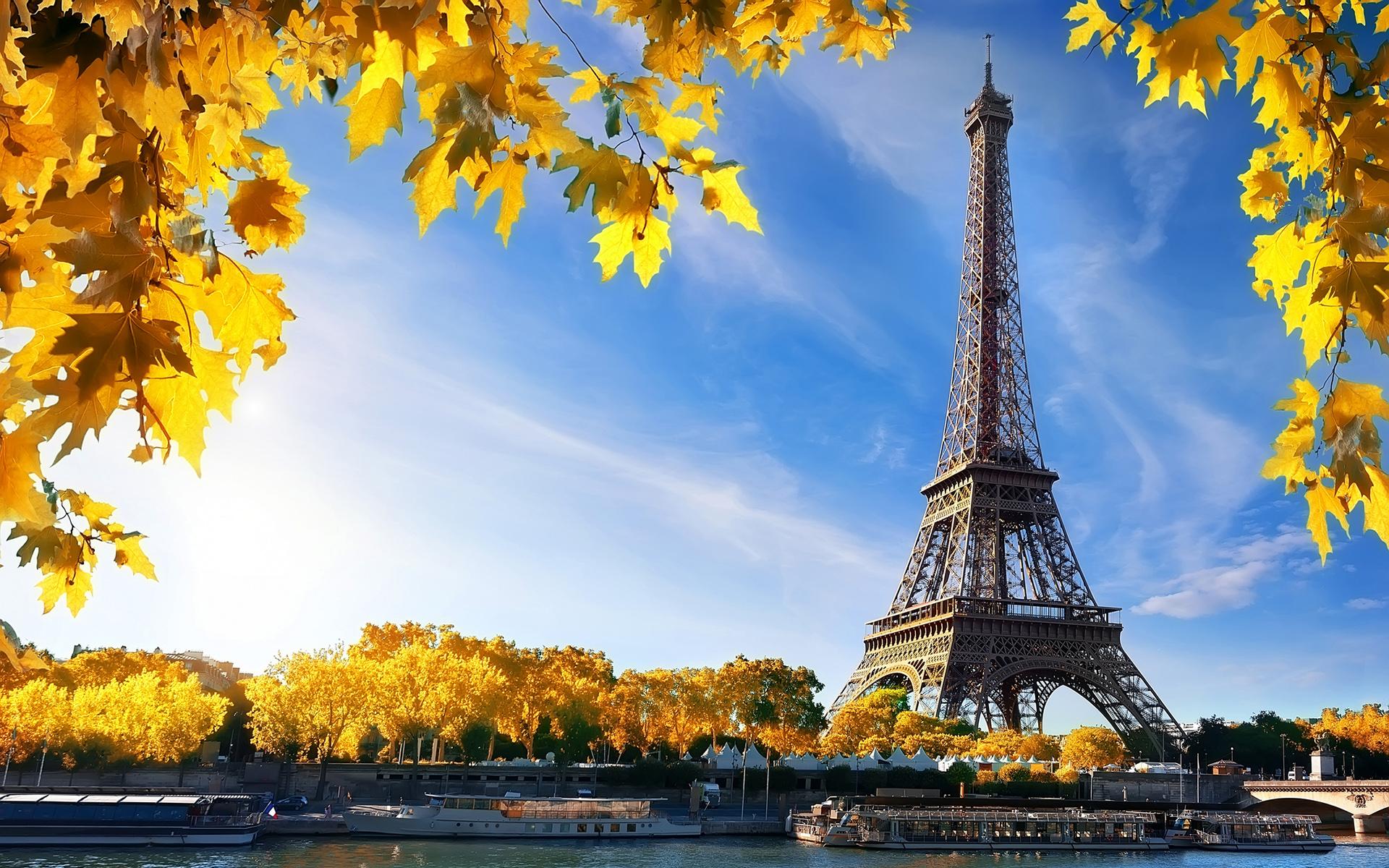 Eiffel Tower Fall France Paris 1920x1200