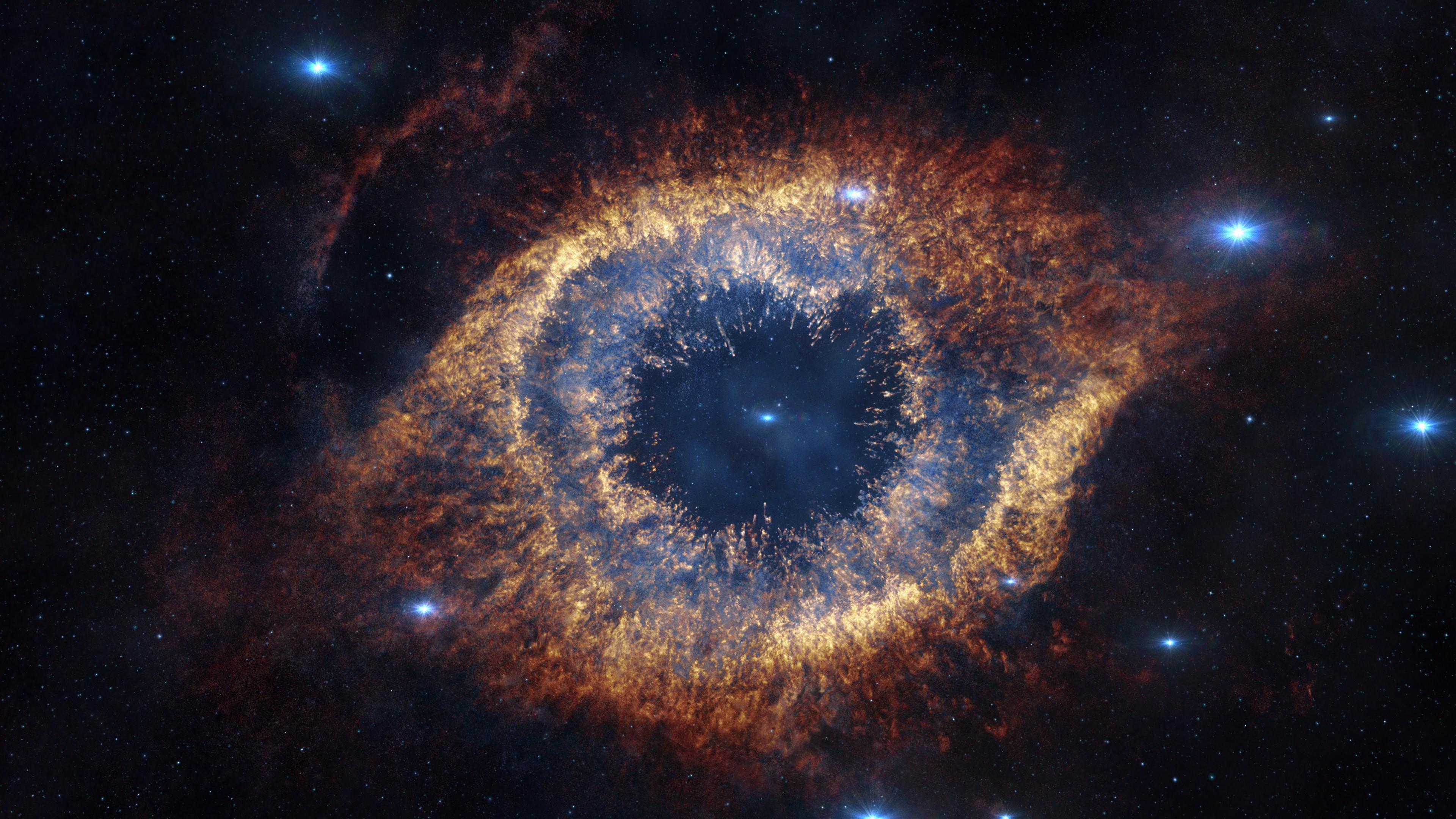 Helix Nebula Space Stars 3840x2160