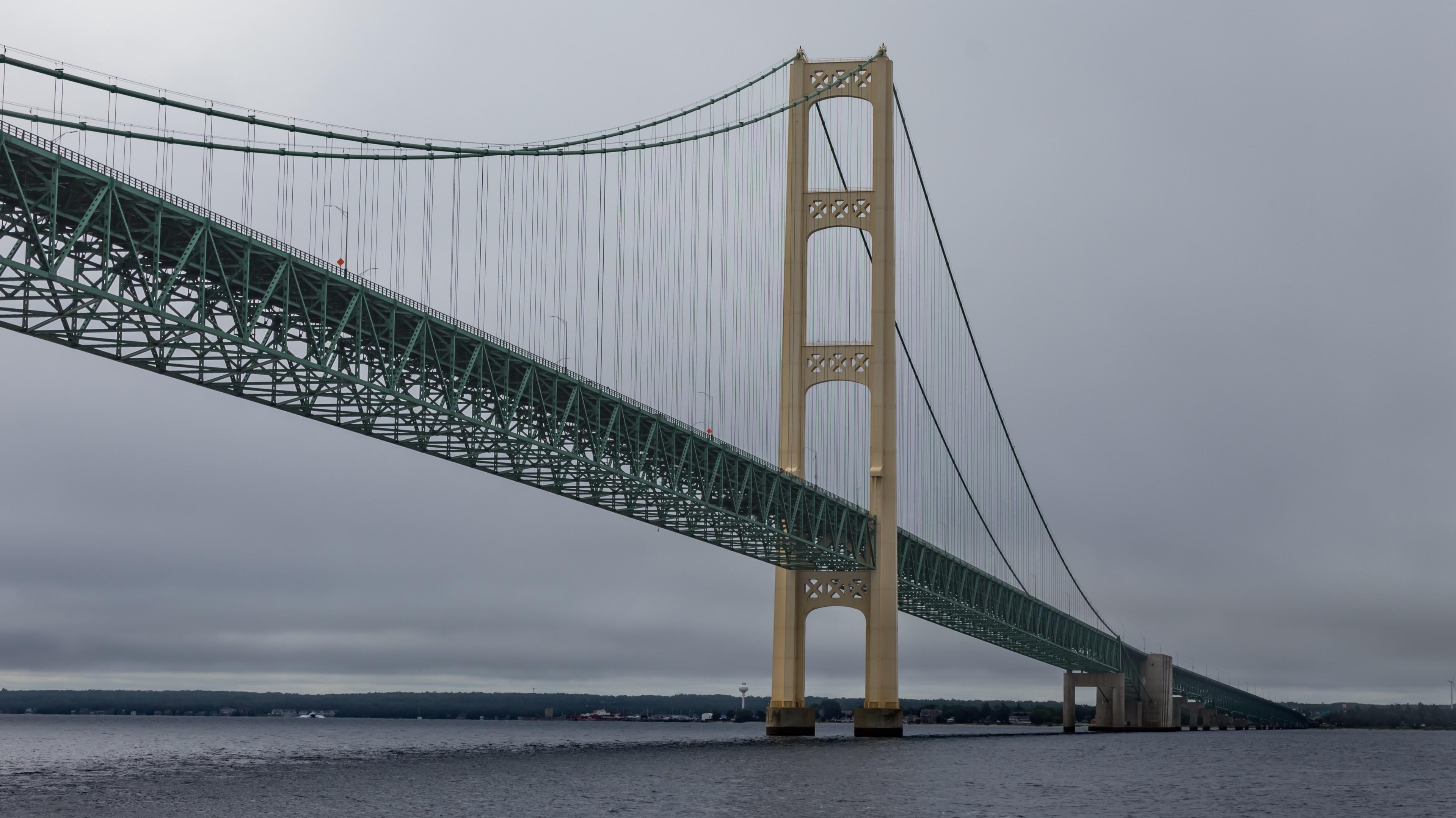 Mackinac Bridge Mackinaw City Michigan 3840x2160