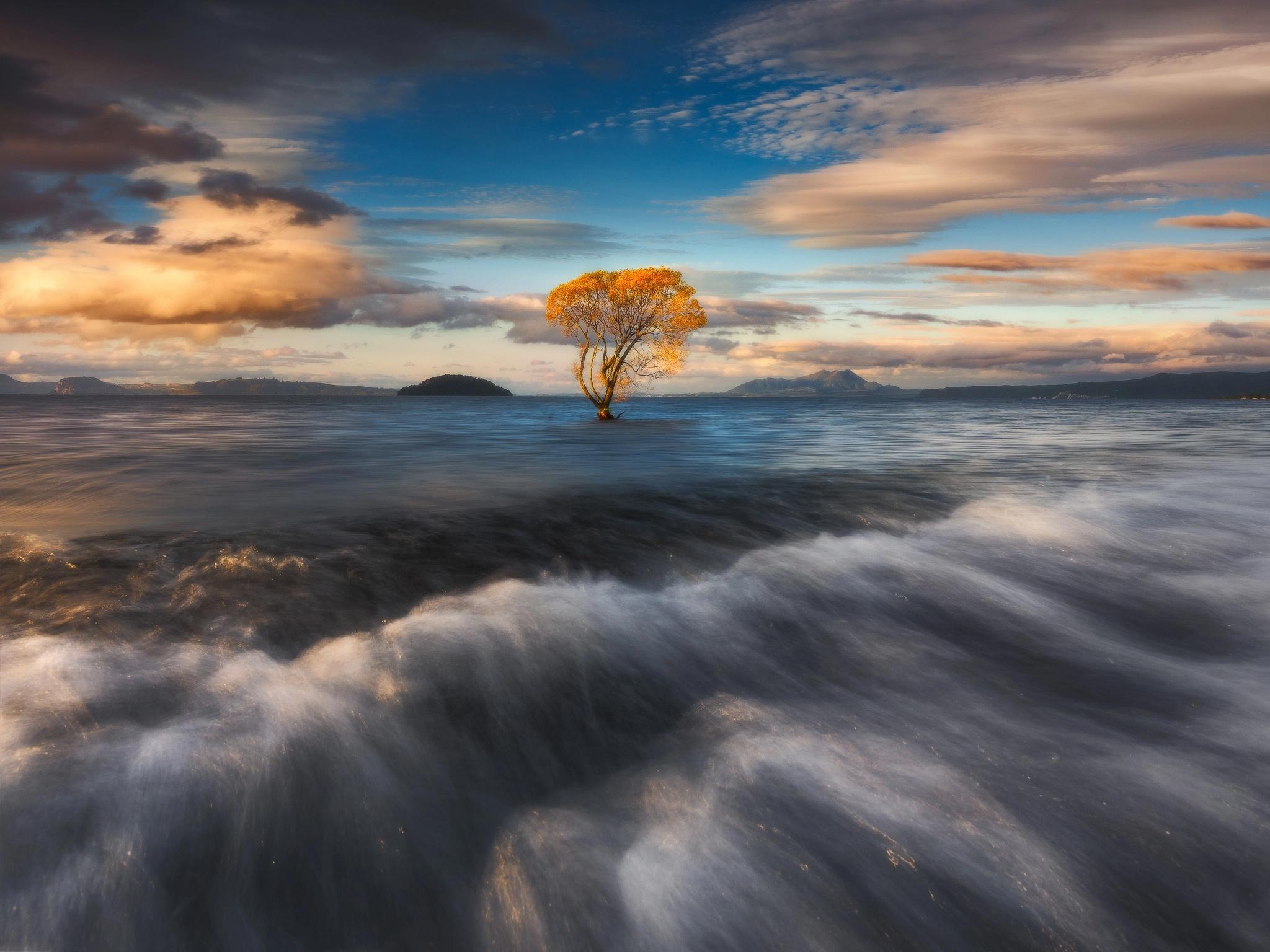 Ocean Nature Sky Cloud Horizon 2048x1536