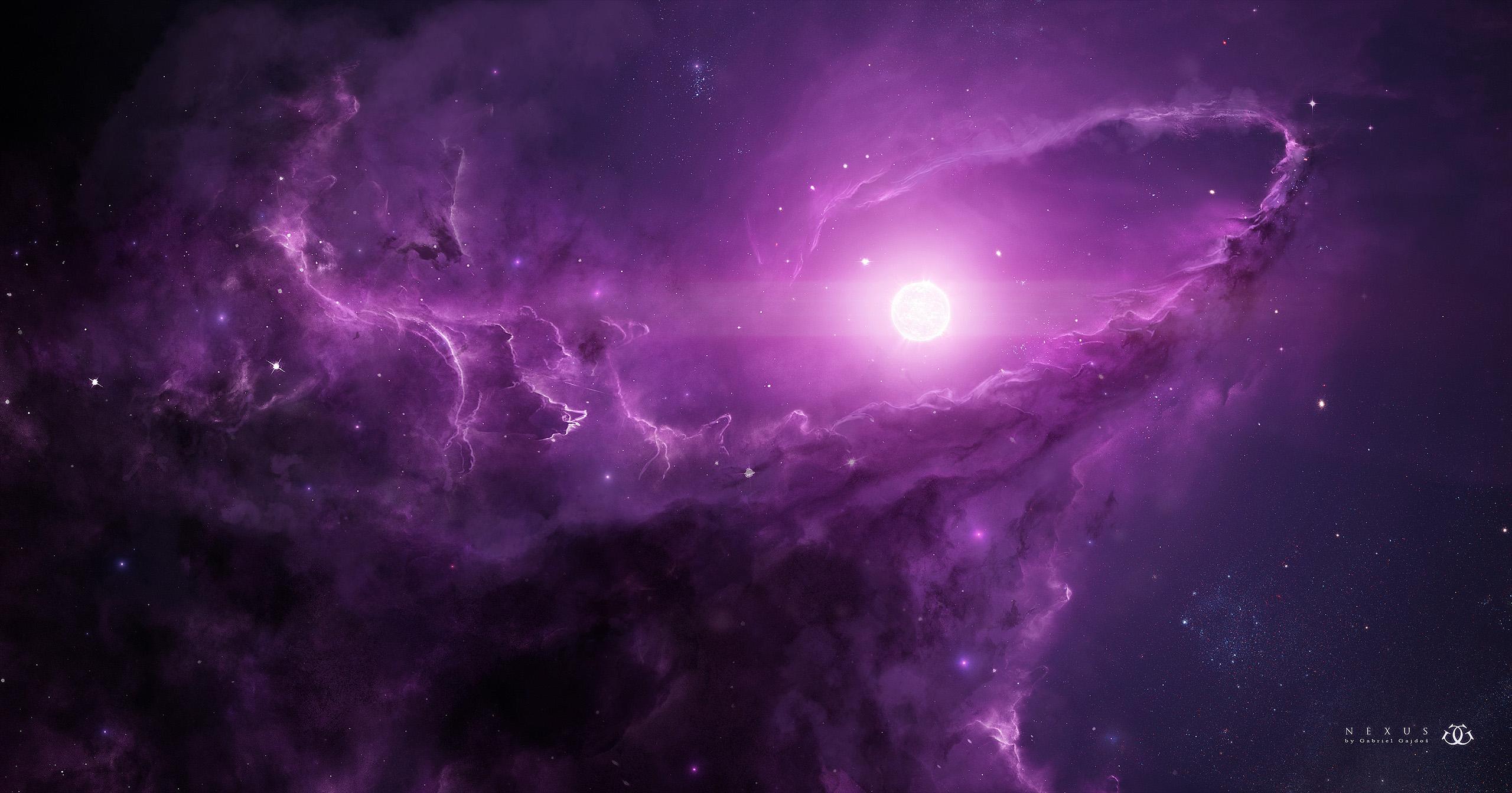 Space Purple 2560x1344