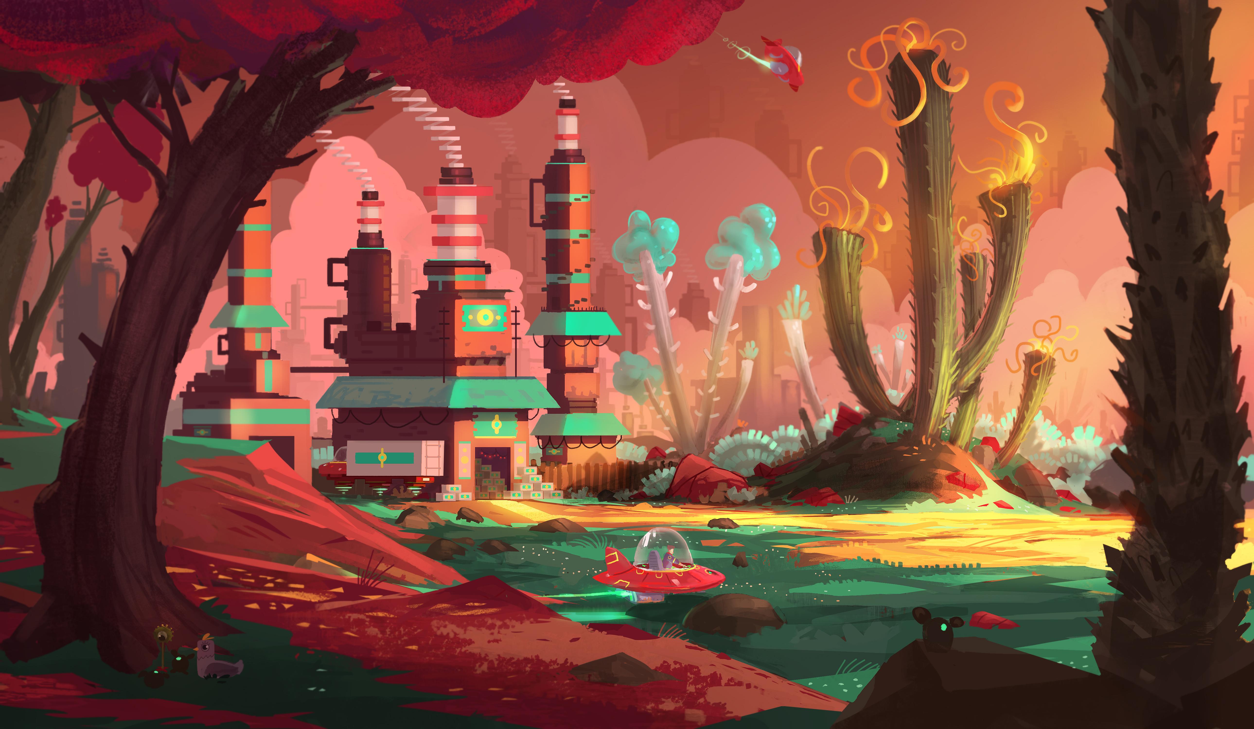 Sci Fi Landscape 5158x3000