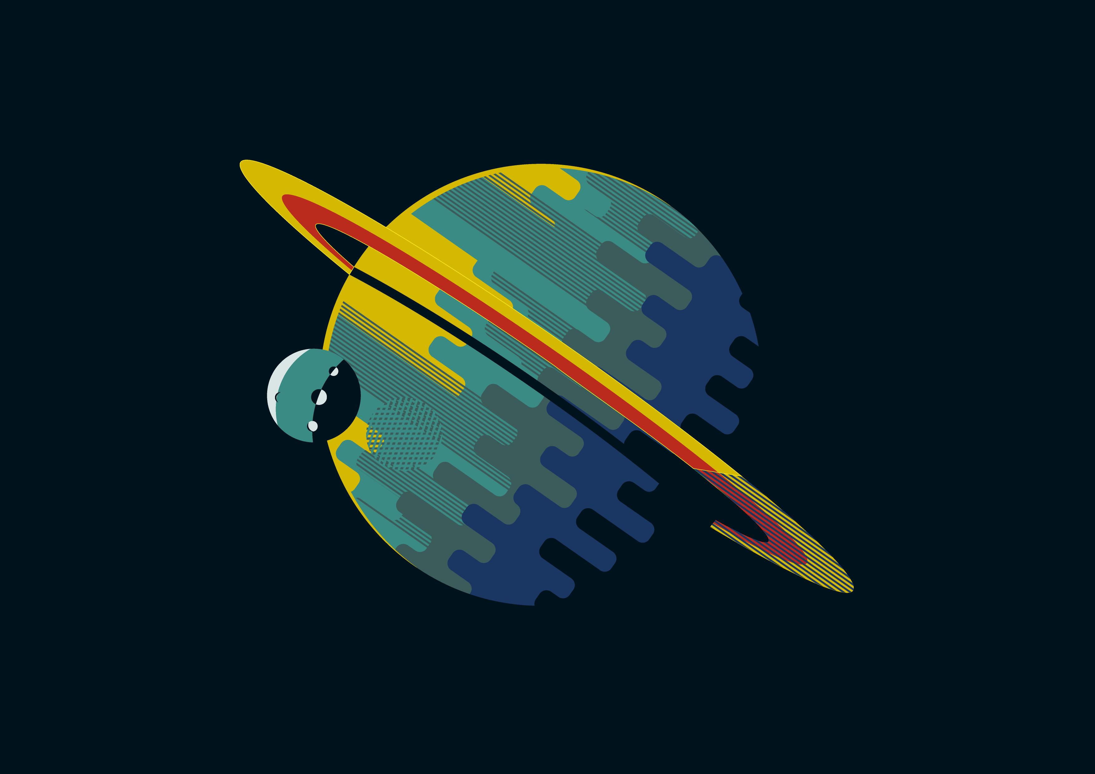 Planet Colors Minimalist 3508x2481