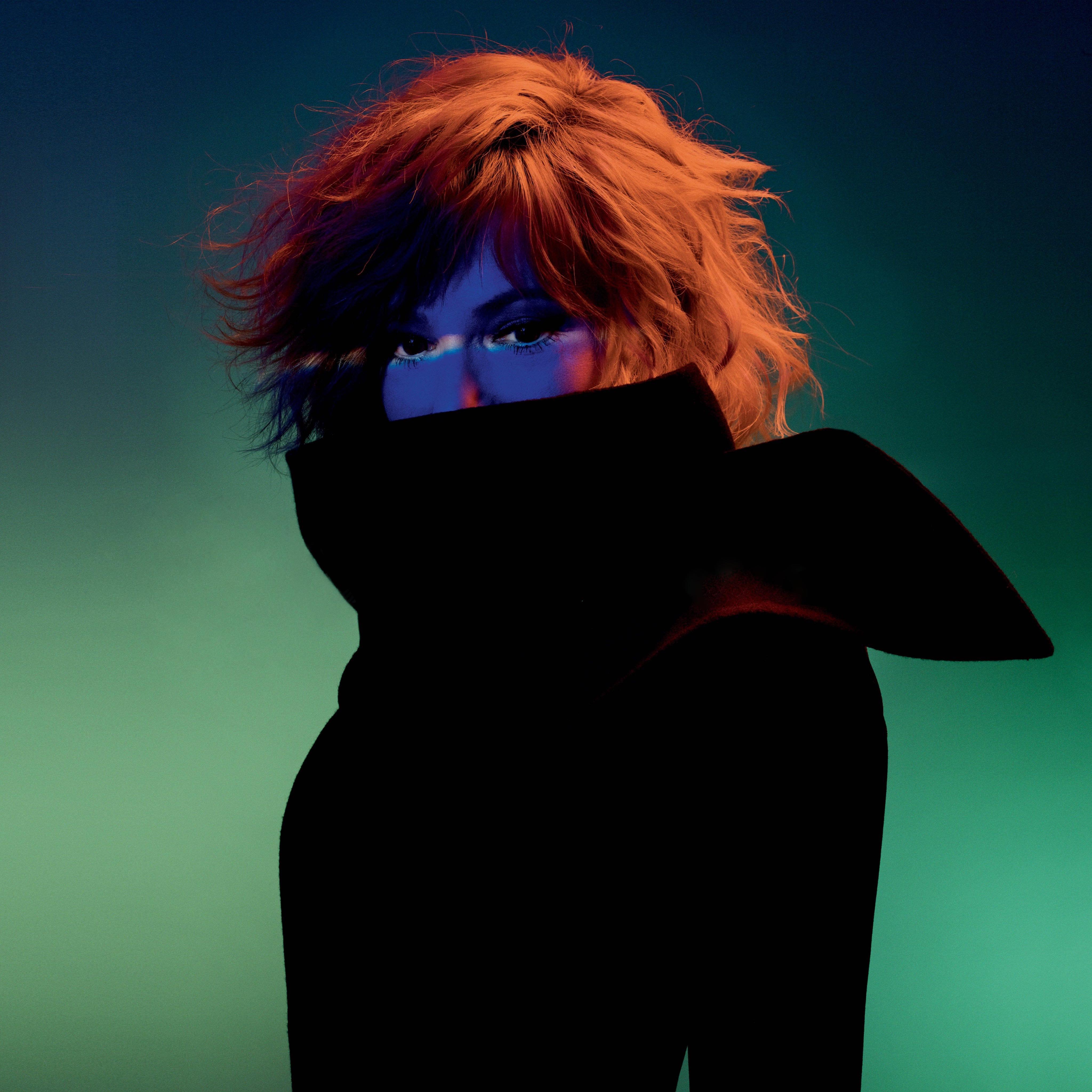 Mylene Farmer French Singer Redhead Wolf Closed Eyes 4096x4096