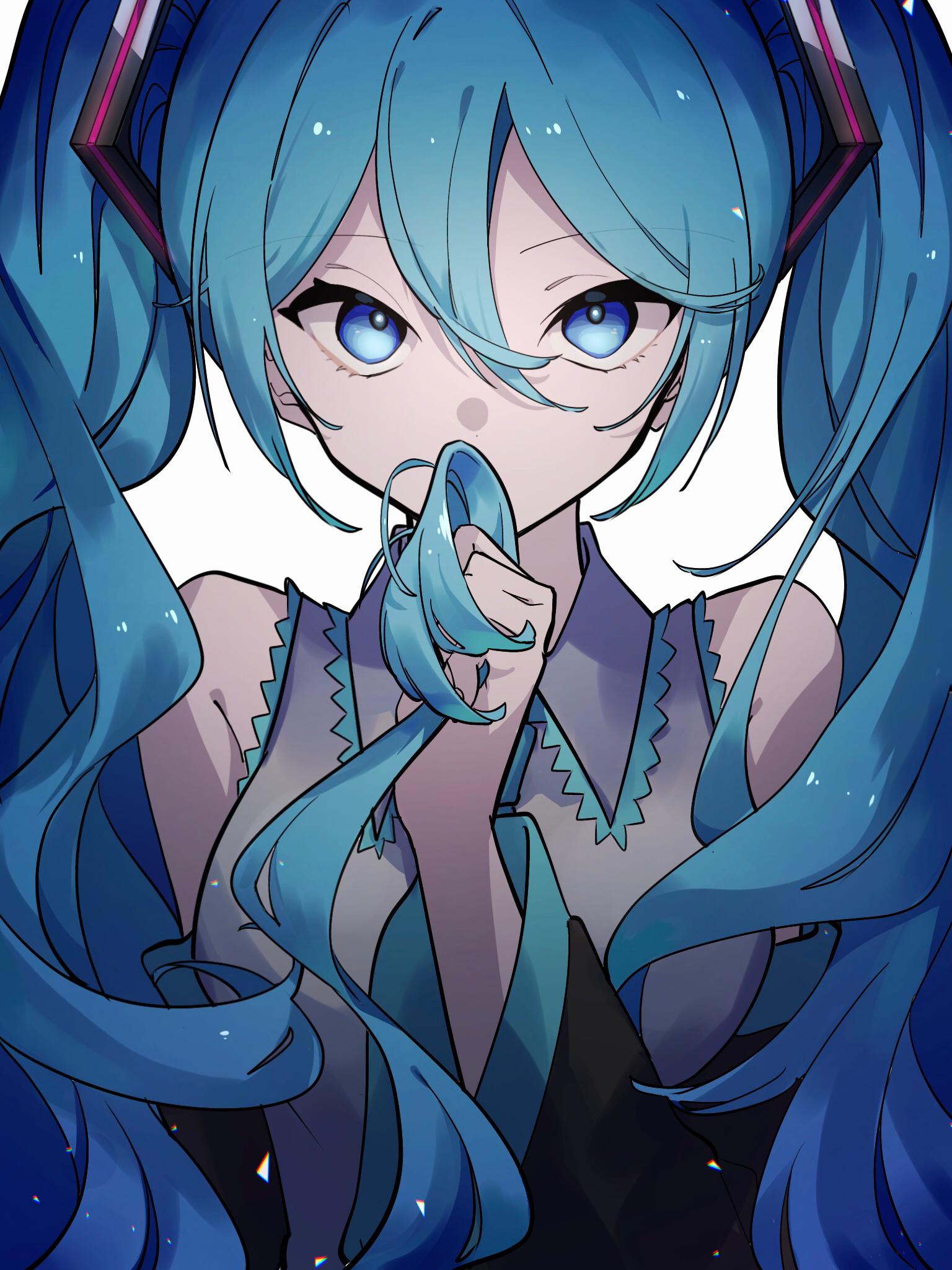 Anime Anime Girls Digital Art Artwork 2D Portrait Display Vertical Vocaloid Hatsune Miku Twintails B 1536x2048