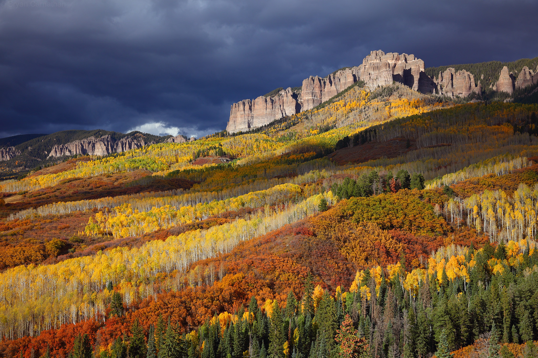Forest Mountain Usa Landscape Cliff 2048x1365