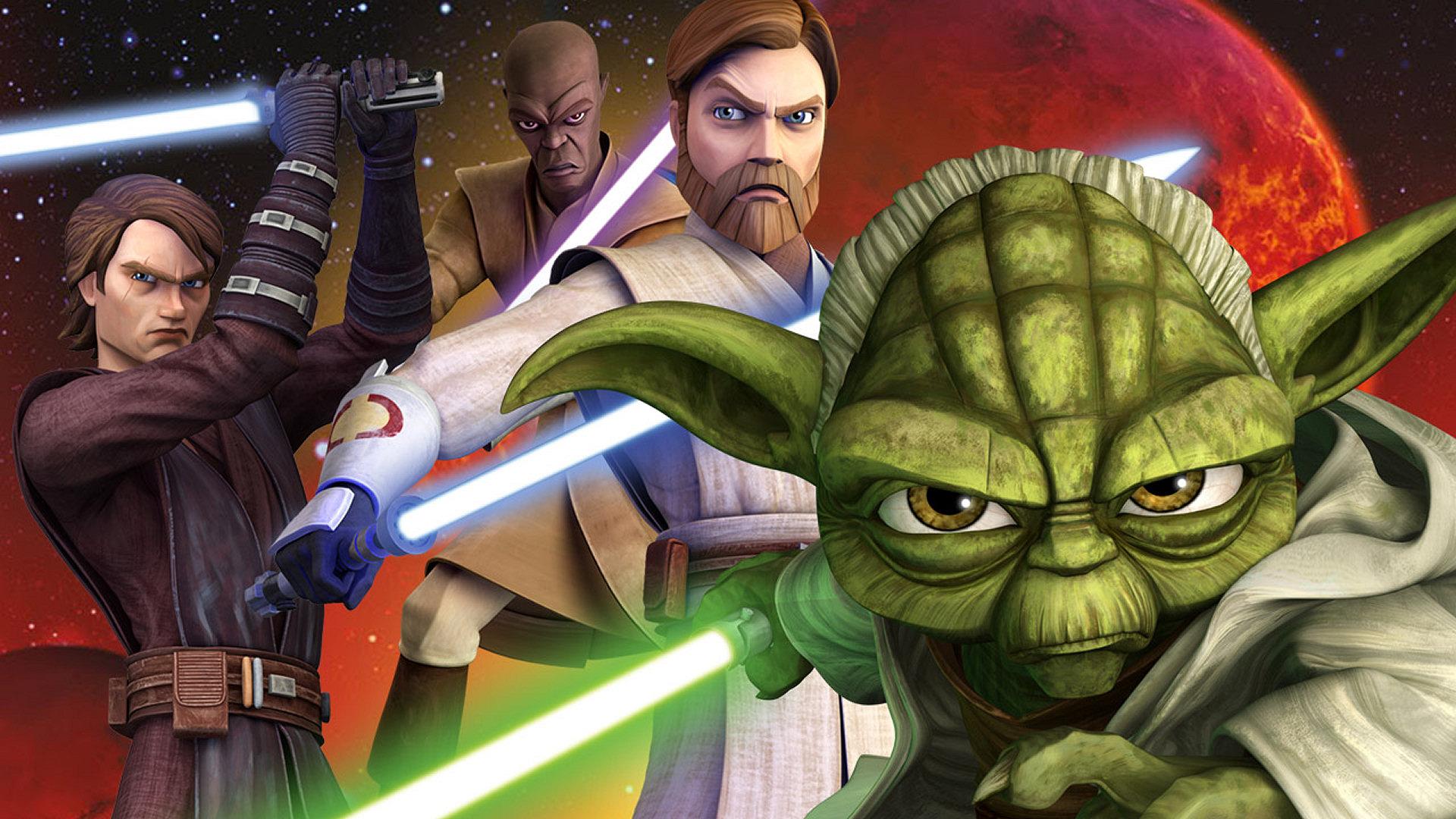 Star Wars Anakin Skywalker Obi Wan Kenobi Yoda Mace Windu Lightsaber 1920x1080