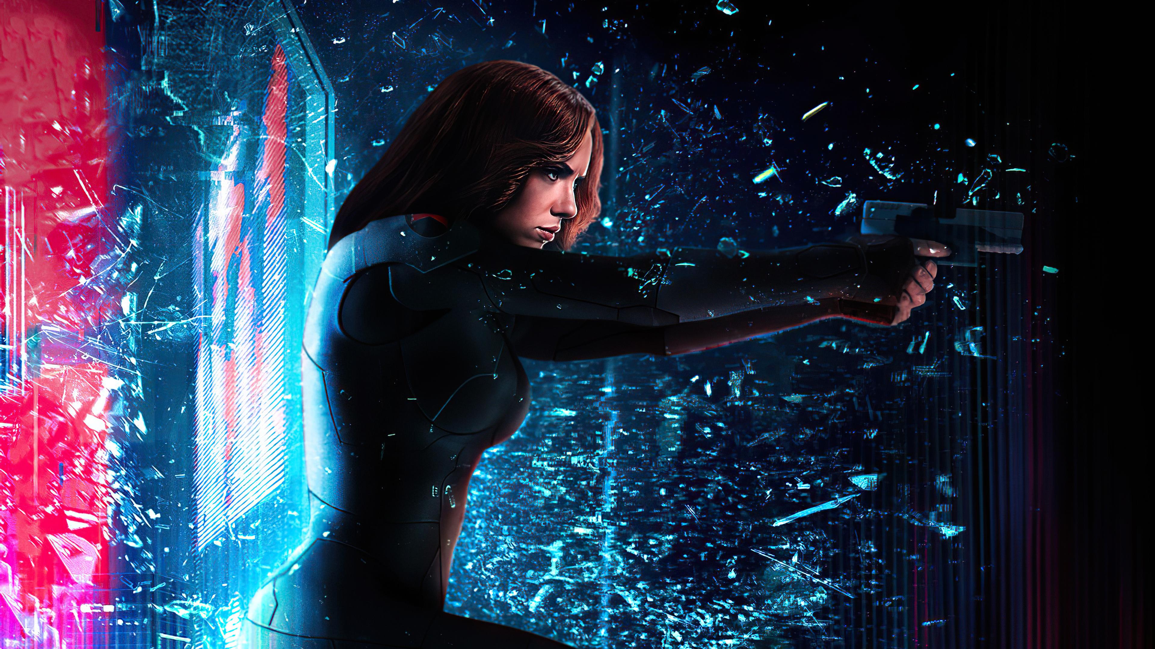 Marvel Comics Marvel Cinematic Universe Black Widow Mizuri AU 3840x2160
