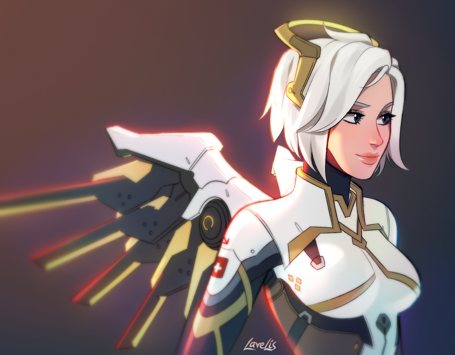 Overwatch Blizzard Entertainment Mercy Overwatch Video Games Girls Video Game Characters Women White 1500x1170