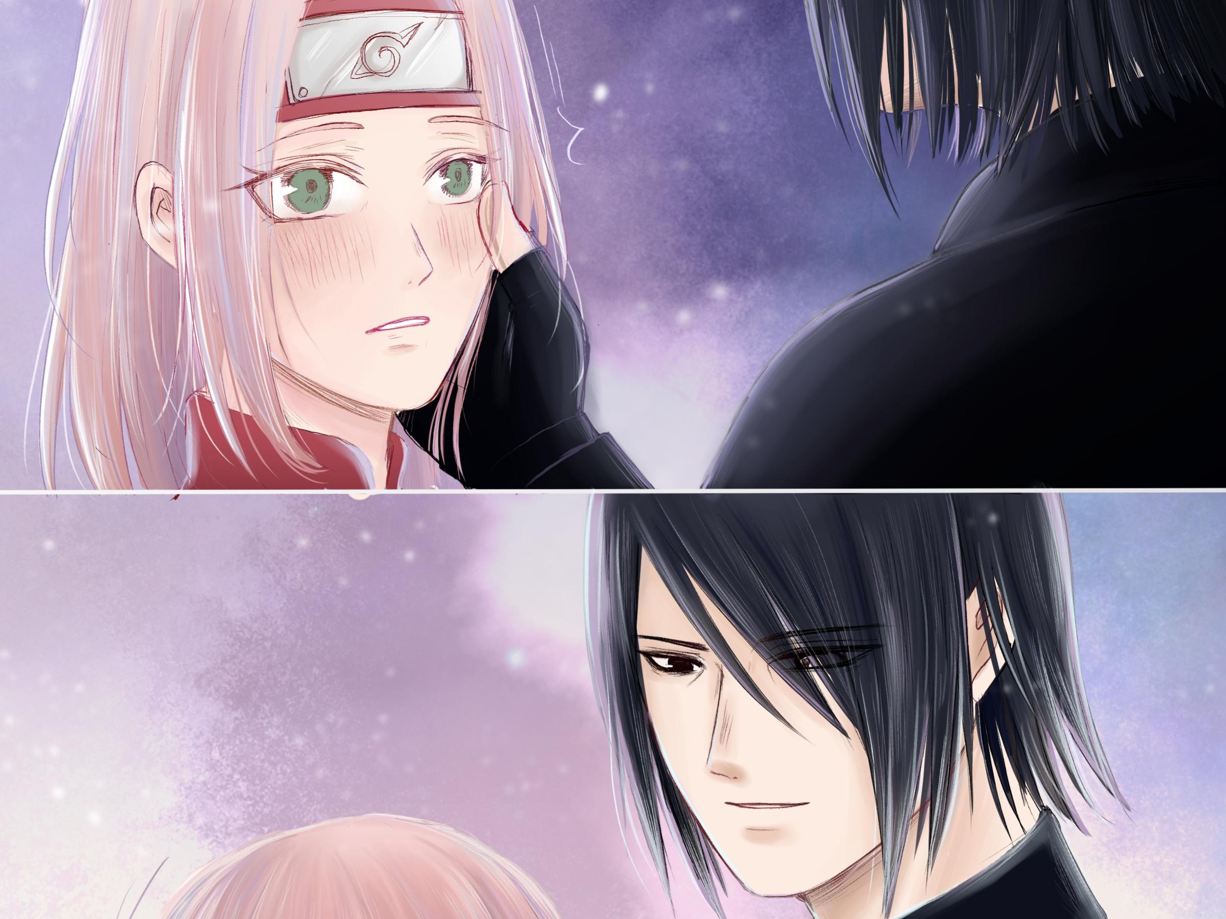 Sakura Haruno Sasuke Uchiha 2471x1852
