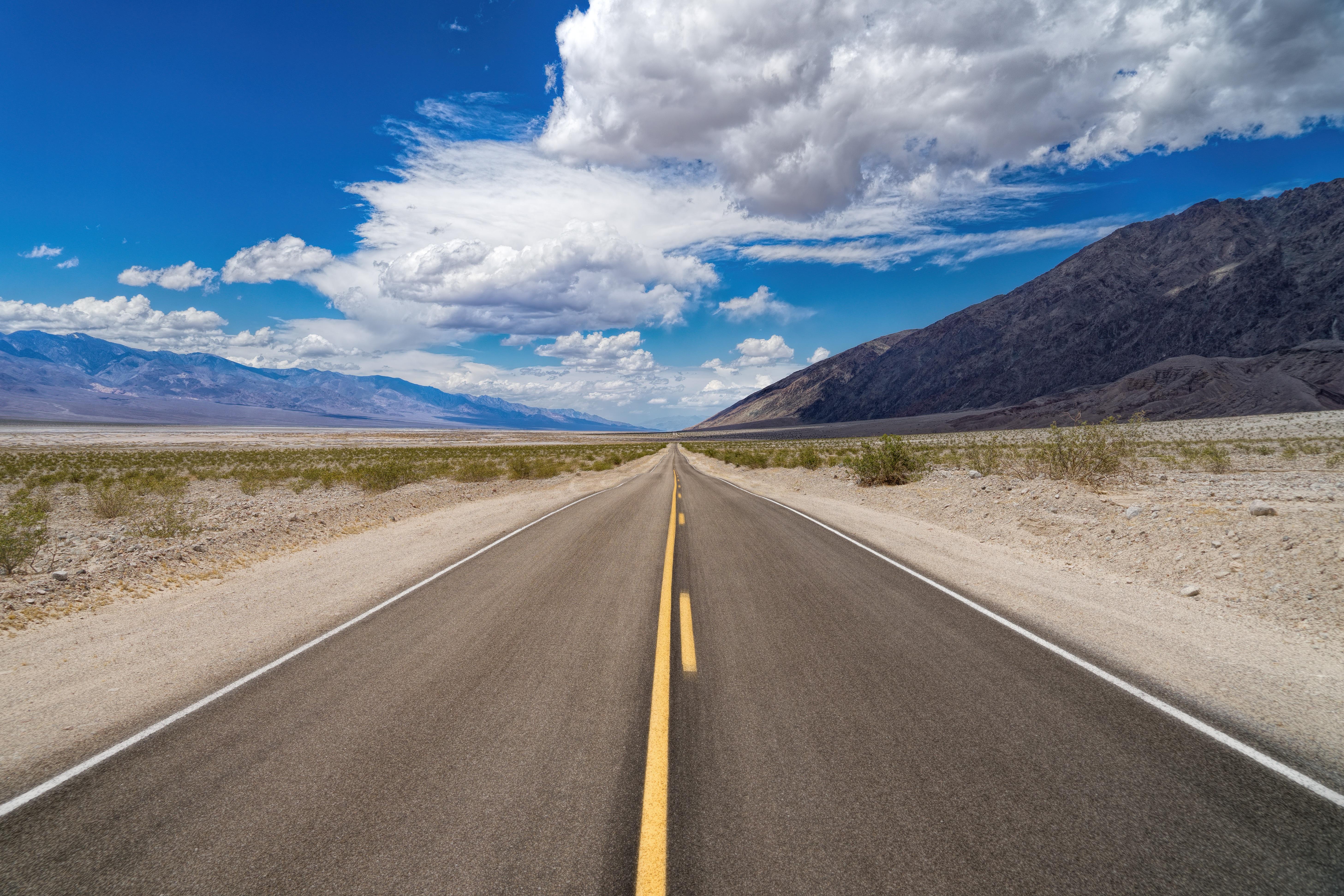 Nature California Usa Cloud Desert Landscape 5827x3885