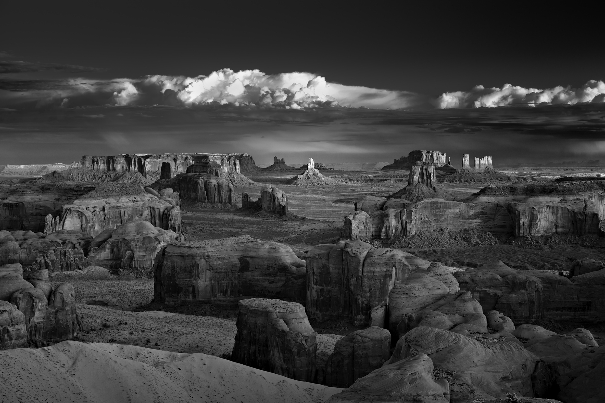 Photography Monochrome Rock Mountains USA Clouds Mitch Dobrowner Rock Formation Landscape Panorama N 2000x1333