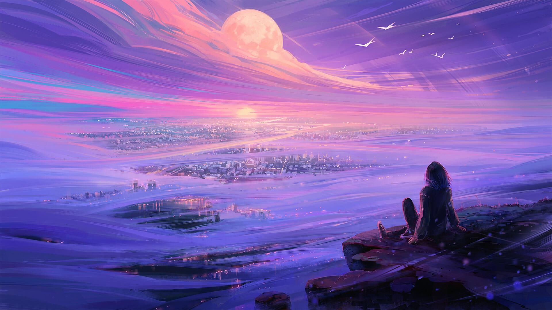 Digital Art Fantasy Art Sky Landscape Aenami 1920x1080