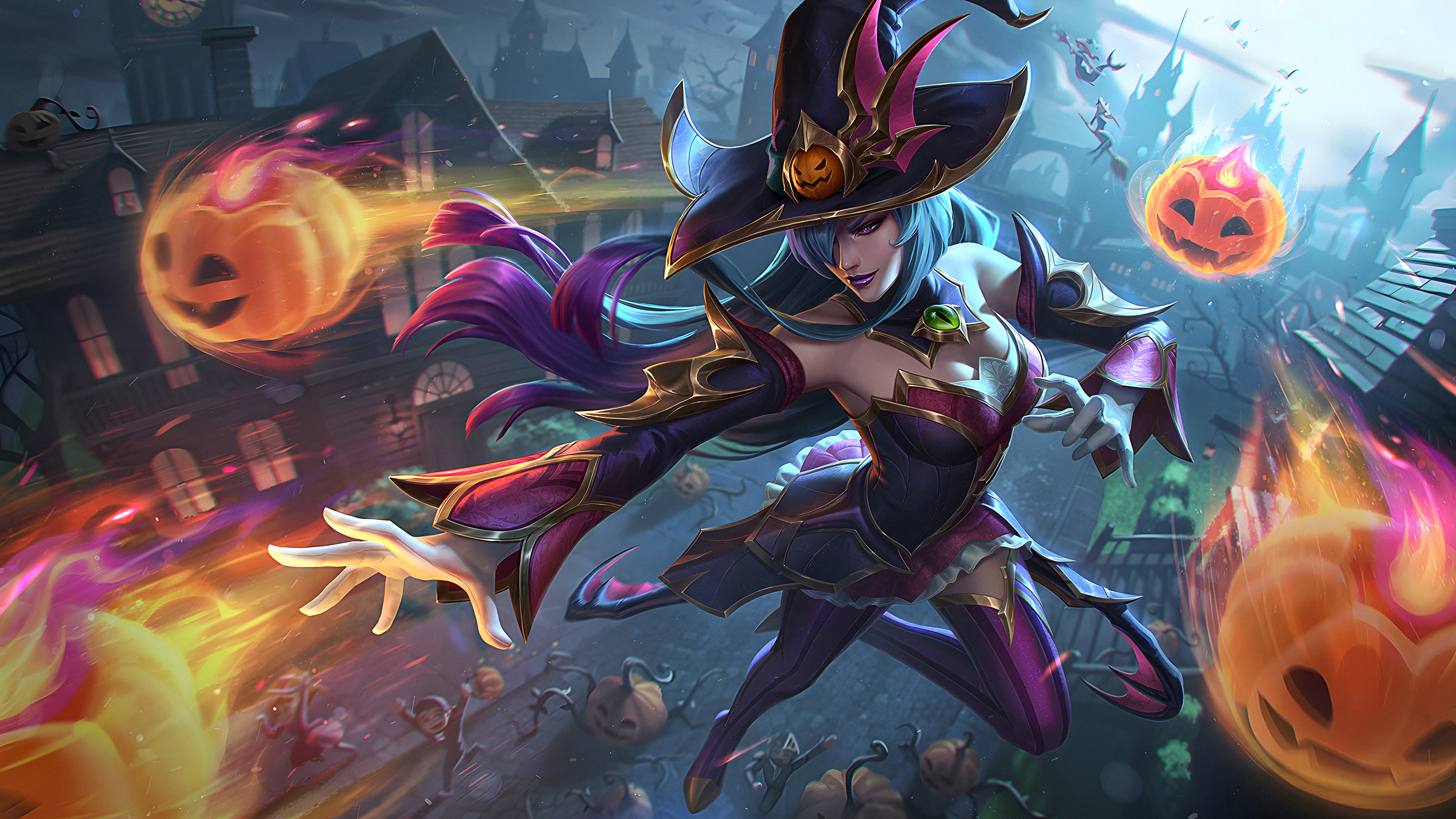 Bewitching League Of Legends 4K Syndra League Of Legends Riot Games 3840x2160