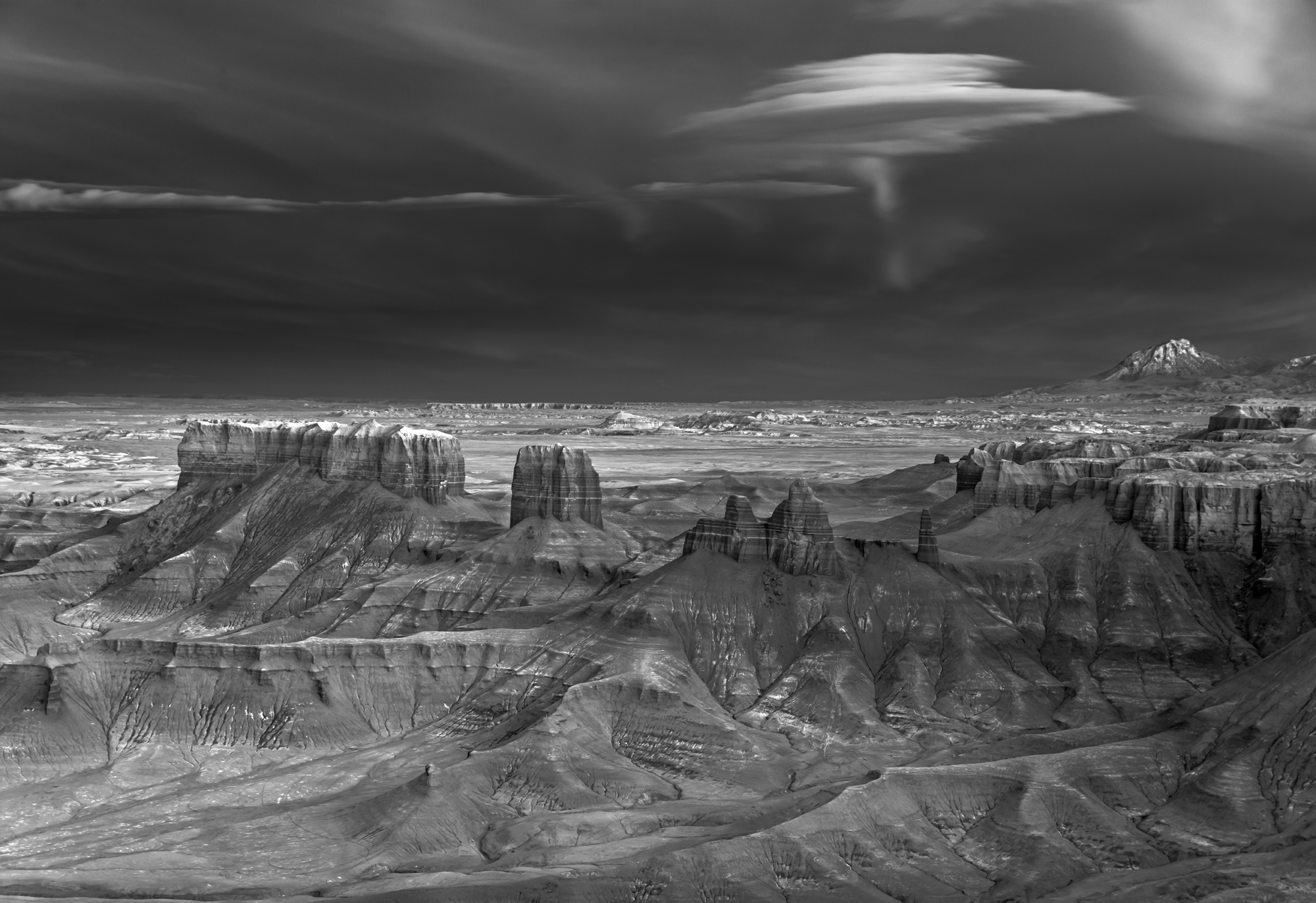 Photography Monochrome Mountains Long Exposure USA Mitch Dobrowner Rock Rock Formation Landscape Nat 2000x1373