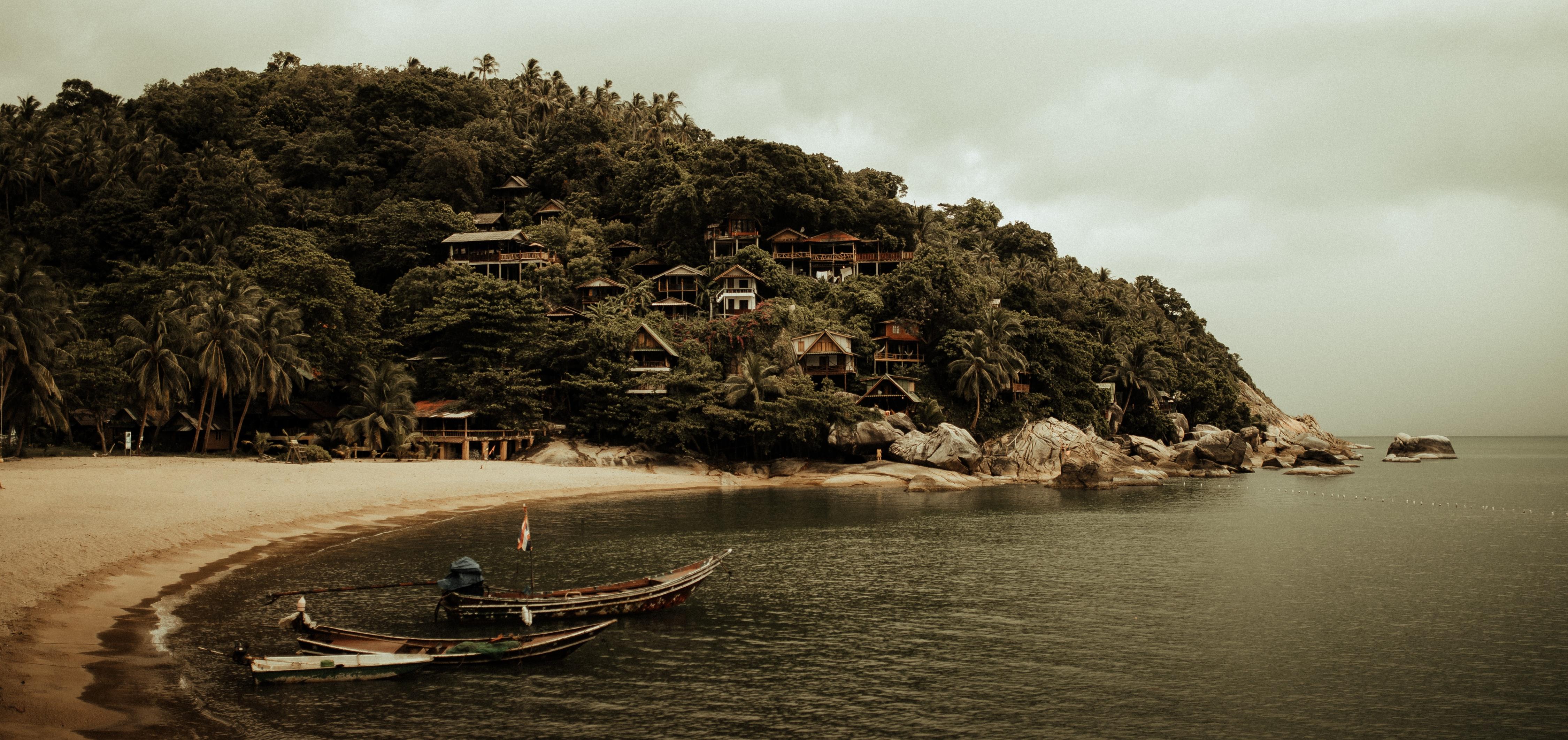 Thailand Boat Beach 4500x2123