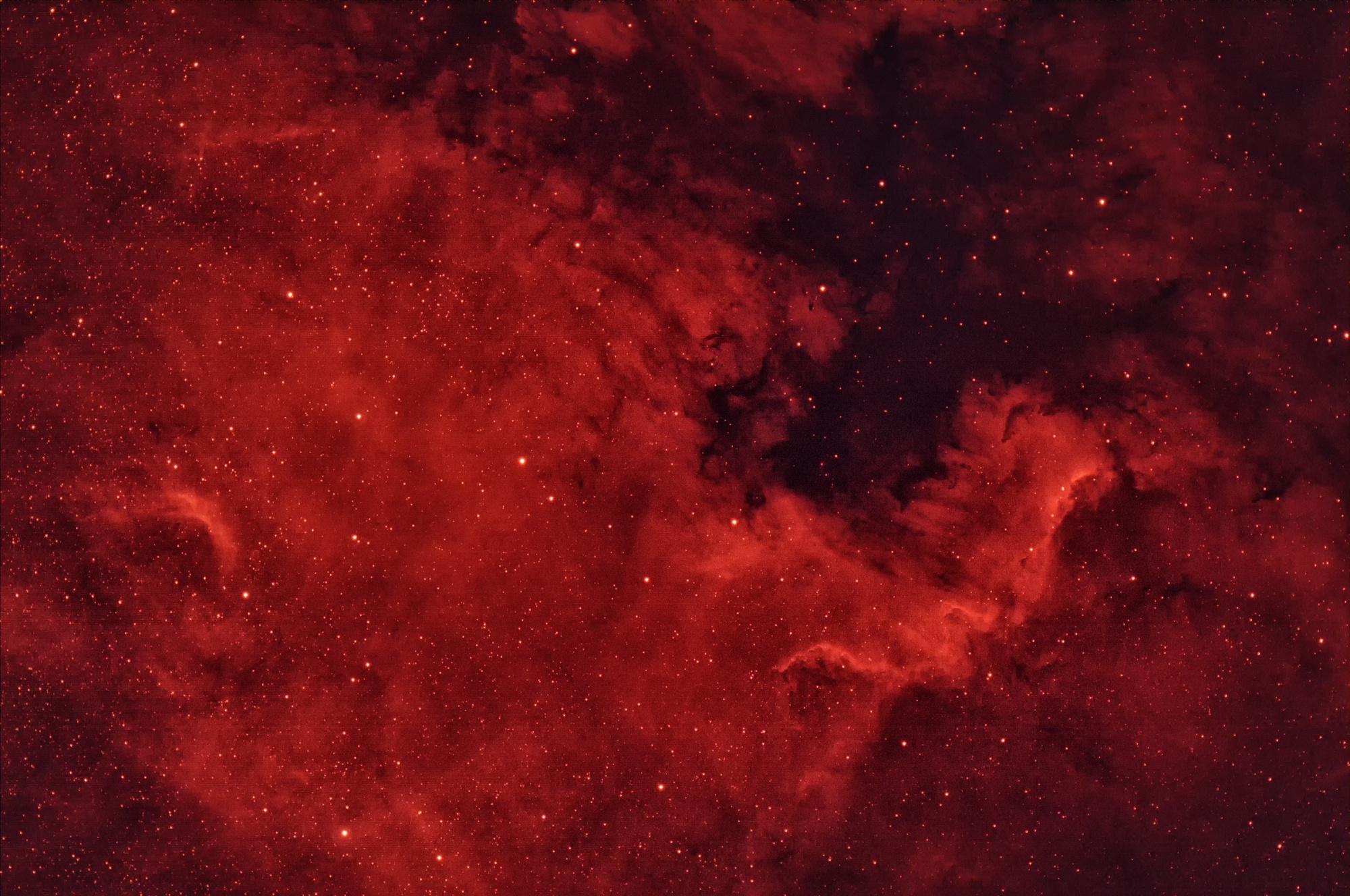 Nebula Red Space Stars 2000x1328