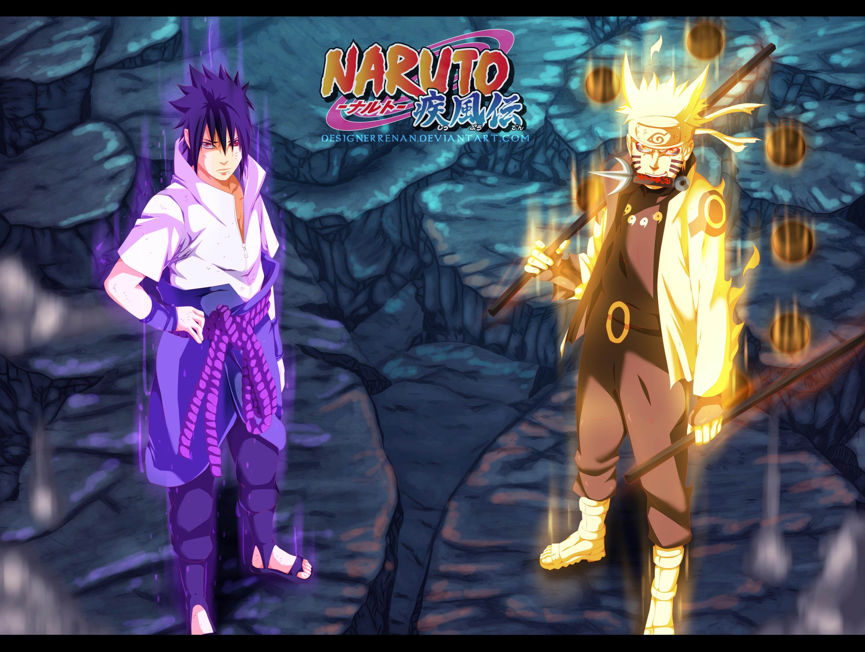 Sasuke Uchiha Naruto Uzumaki 3620x2730