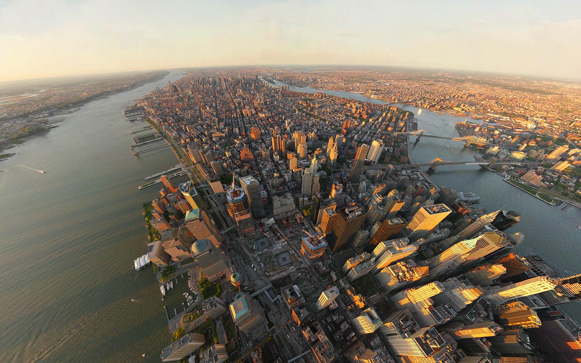 Aerial Building City Cityscape Horizon New York Skyscraper Usa 1920x1200