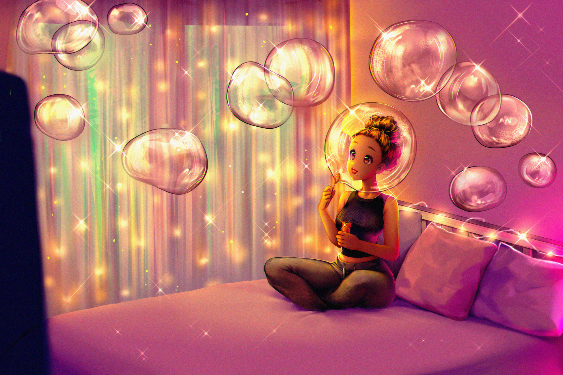 Bubble Girl Woman 1950x1300