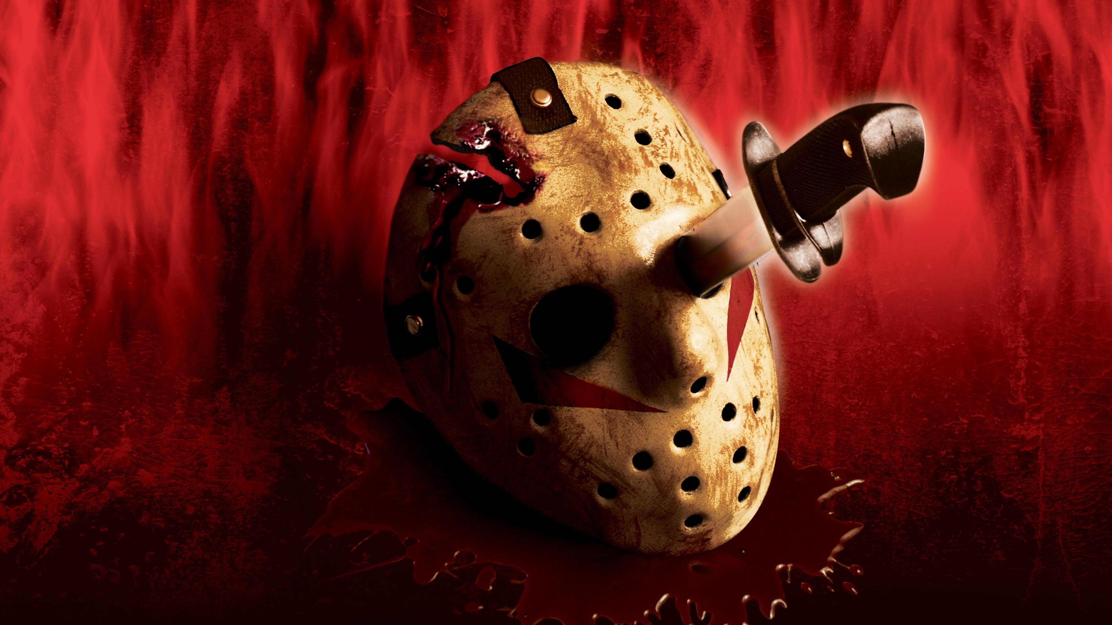 Jason Friday The 13th Fictional Character Horror Movies Hockey Mask Knife 3840x2160