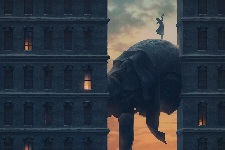Digital Art Fantasy Art Alexey Egorov Trumpet Sunrise 1351x900