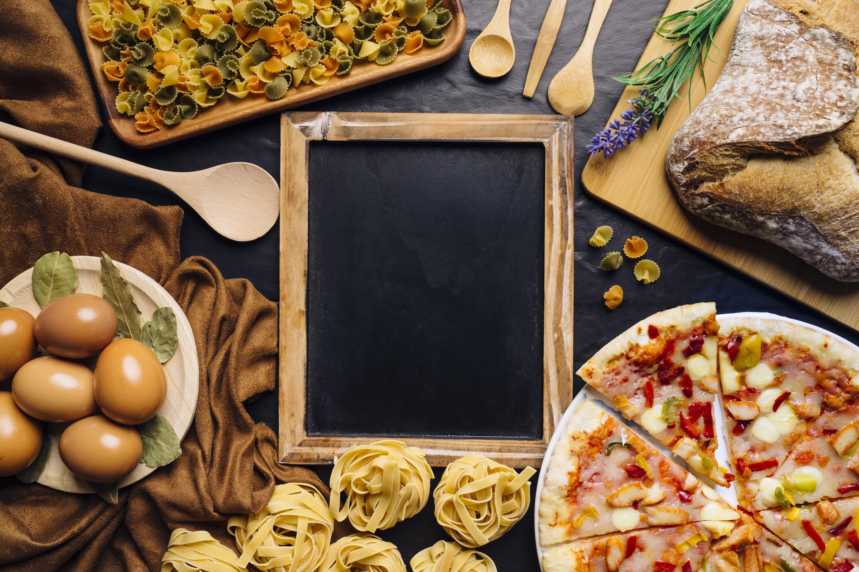 Egg Pizza Pasta Bread 6000x4000