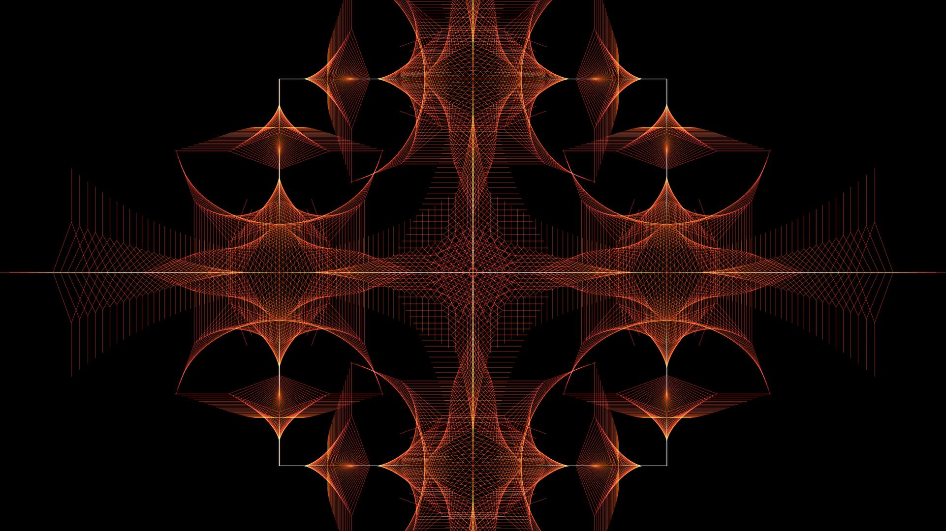 Artistic Orange Color Digital Art Pattern 1922x1080