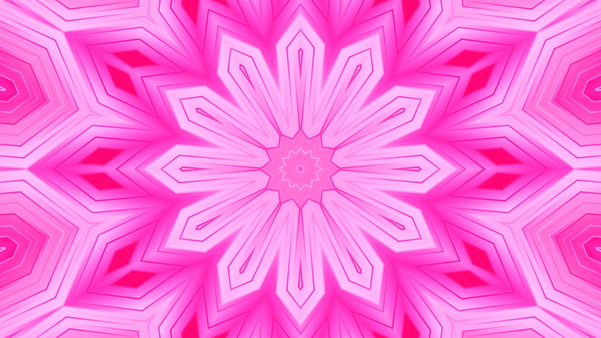 Artistic Digital Art Pattern Shapes Pink Gradient 1920x1080