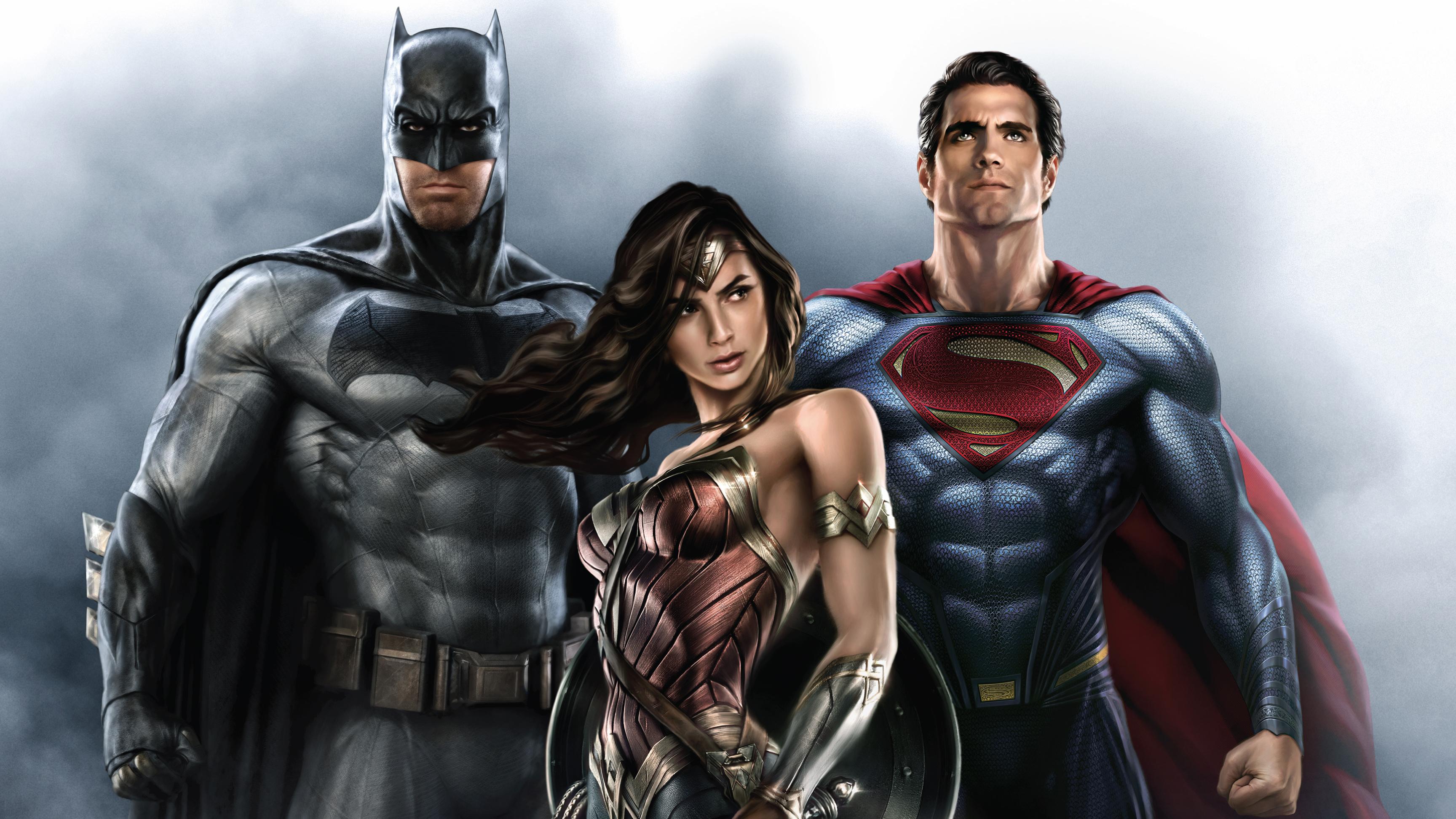 Dc Comics Batman Wonder Woman Superman 3456x1944