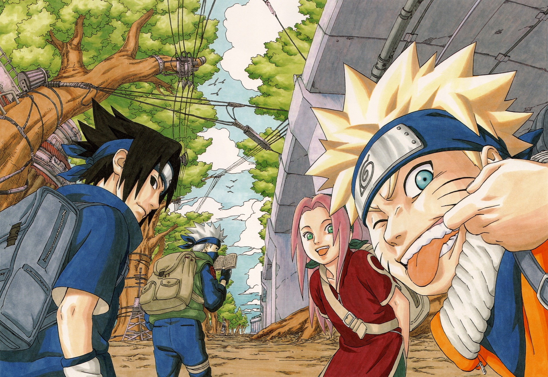 Naruto Uzumaki Sasuke Uchiha Sakura Haruno Kakashi Hatake 1920x1324