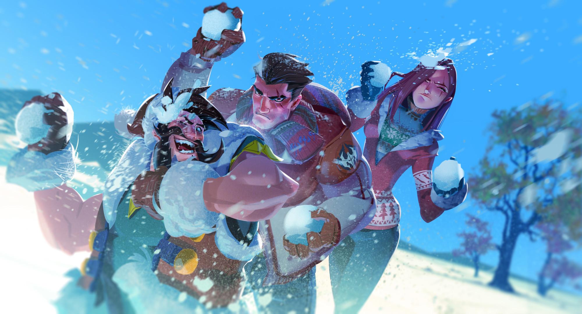 Darius League Of Legends Katarina League Of Legends Draven League Of Legends Snow 2000x1080