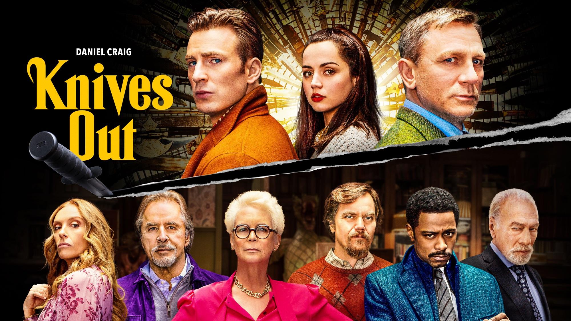 Ana De Armas Chris Evans Daniel Craig Toni Collette Jamie Lee Curtis Christopher Plummer Lakeith Sta 2000x1125