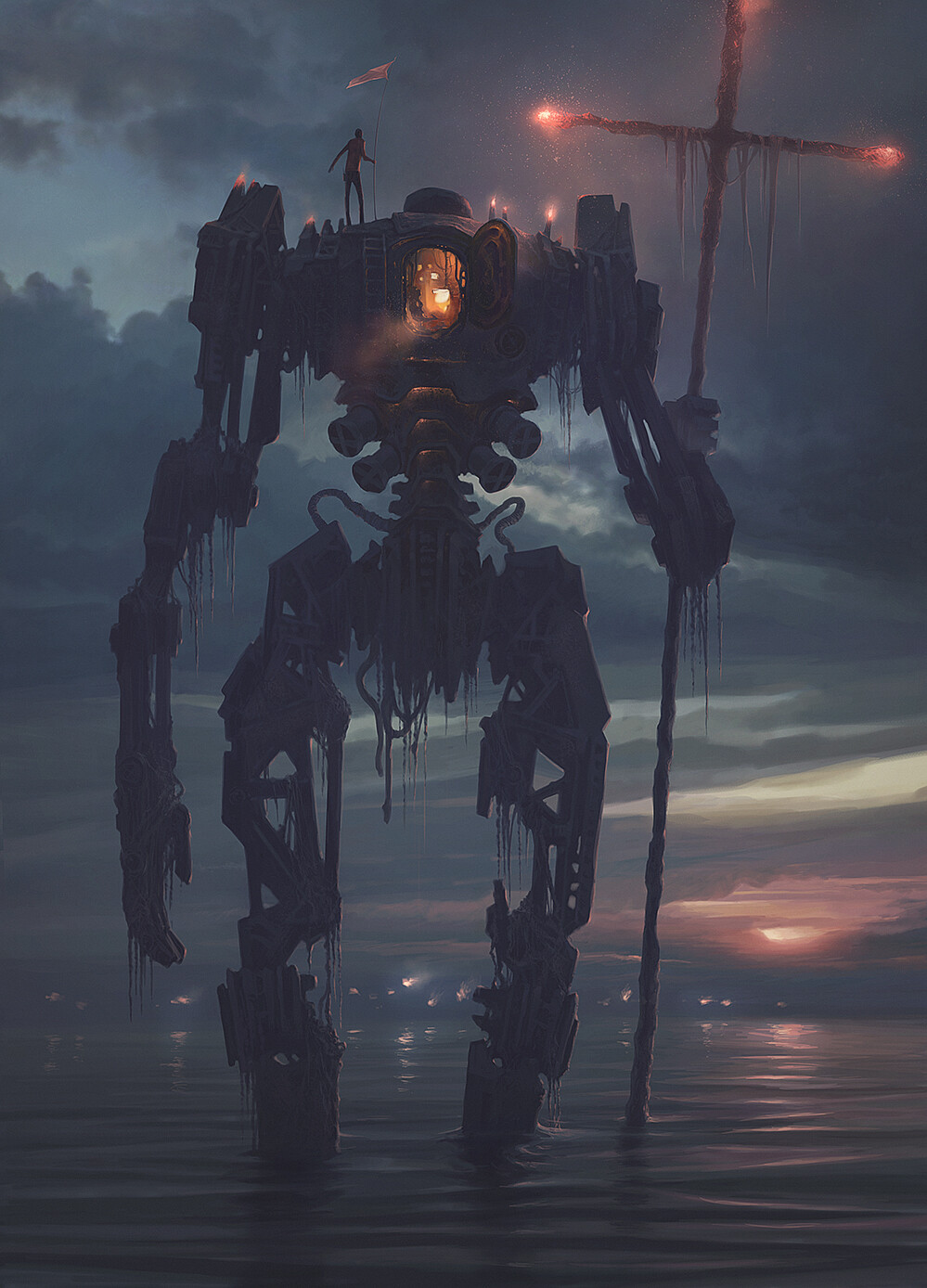 Alexey Egorov Digital Art Fantasy Art Robot Cross 999x1388