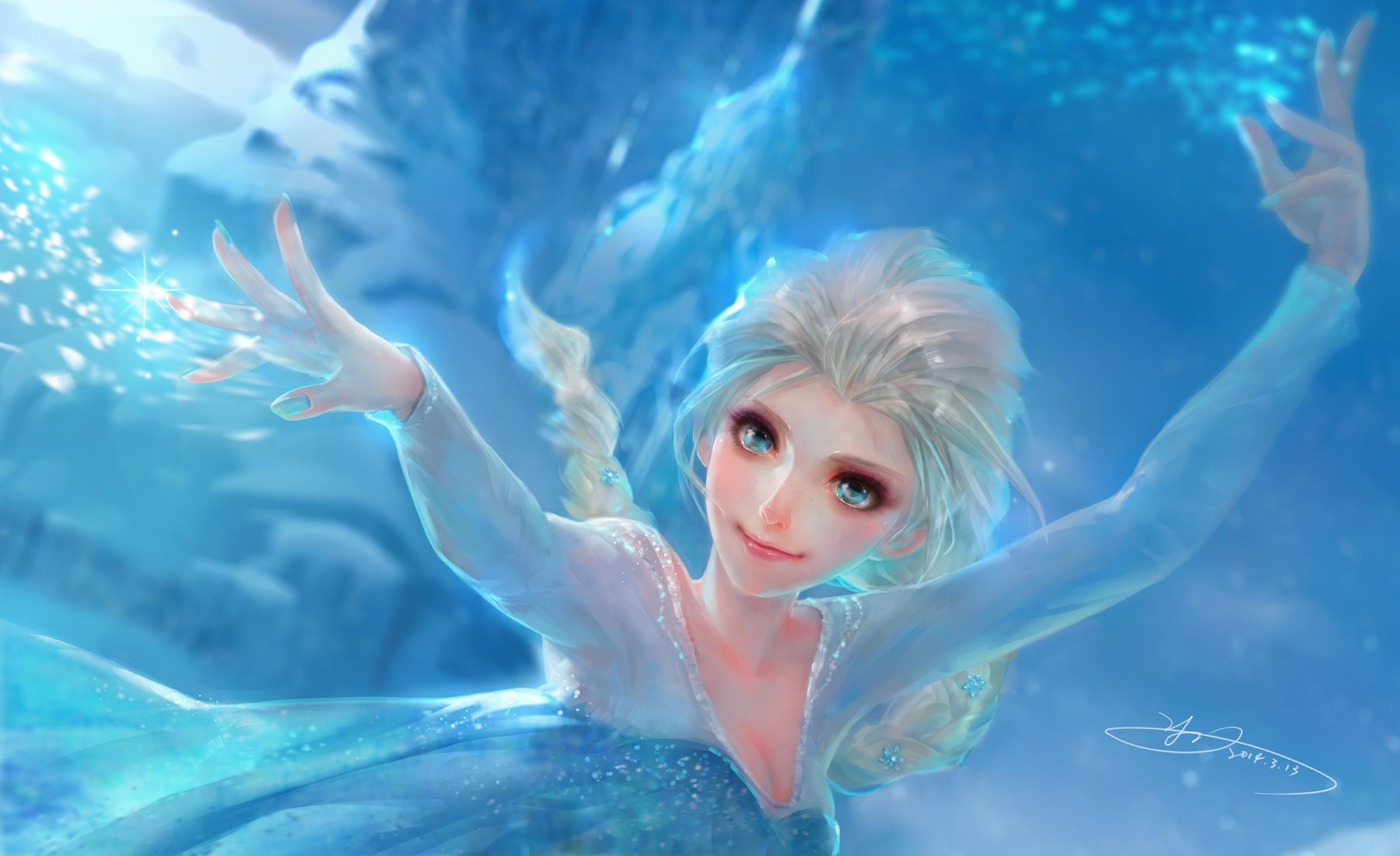 Frozen Movie Elsa Frozen Snow 2400x1468