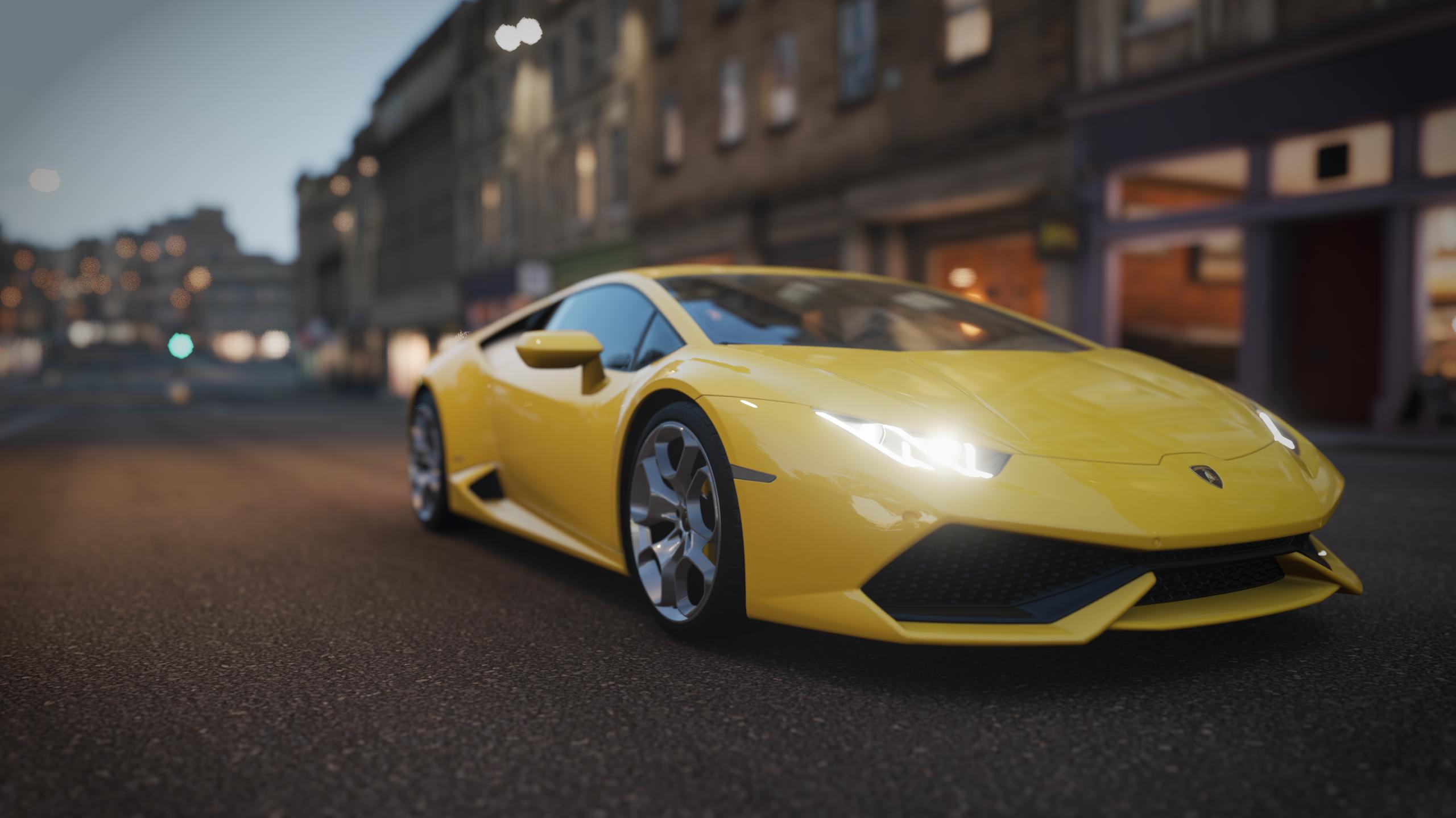 Forza Horizon 4 Car Lamborghini Yellow Video Games 2560x1440